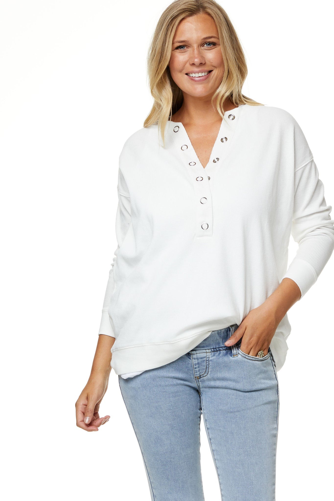 Maternity and Nursing Top white Image 6