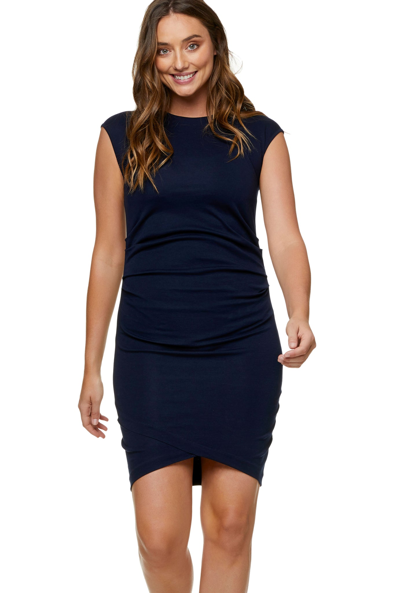 Navy Maternity Dress - Work Maternity Dress 5
