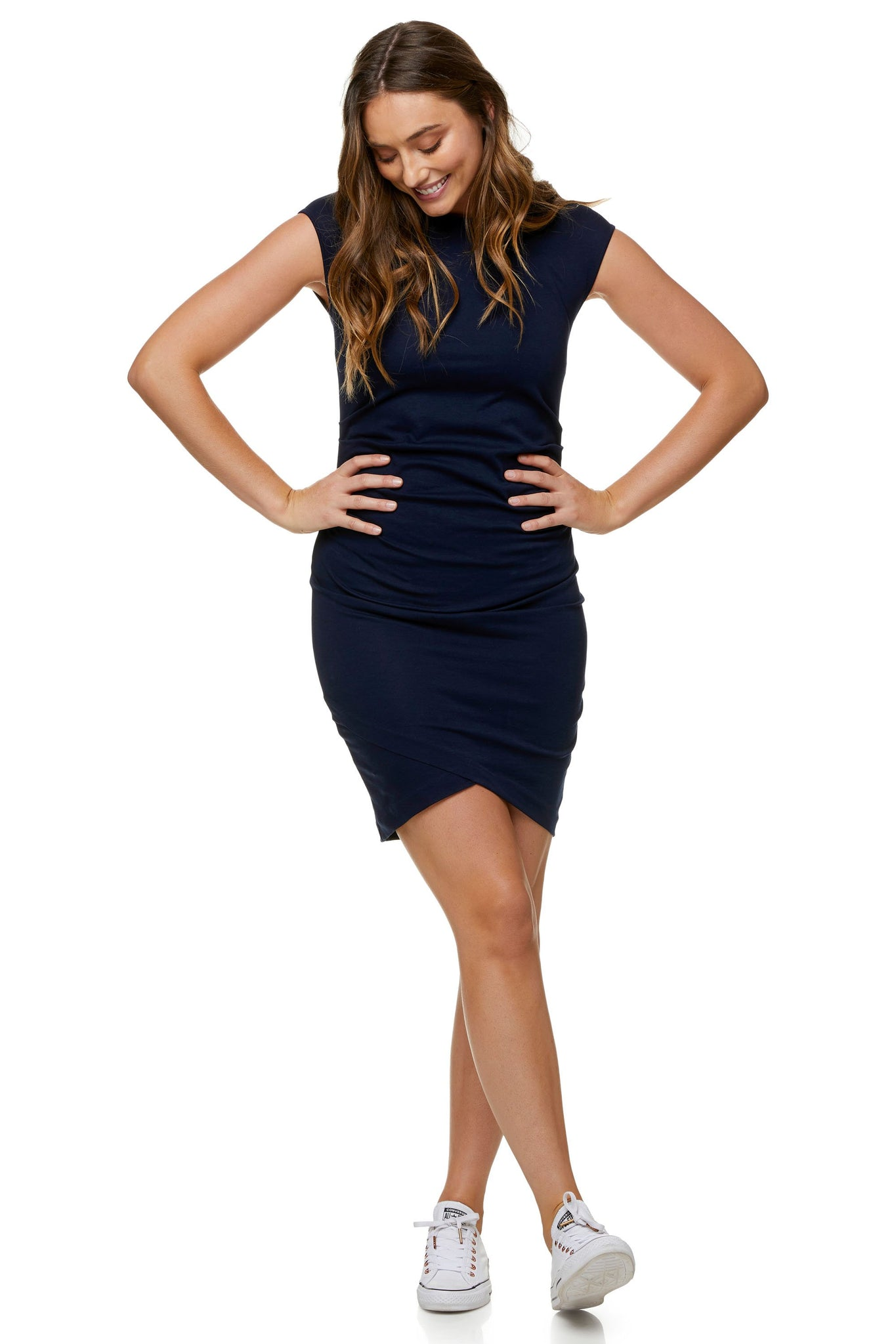 Navy Maternity Dress - Work Maternity Dress 8