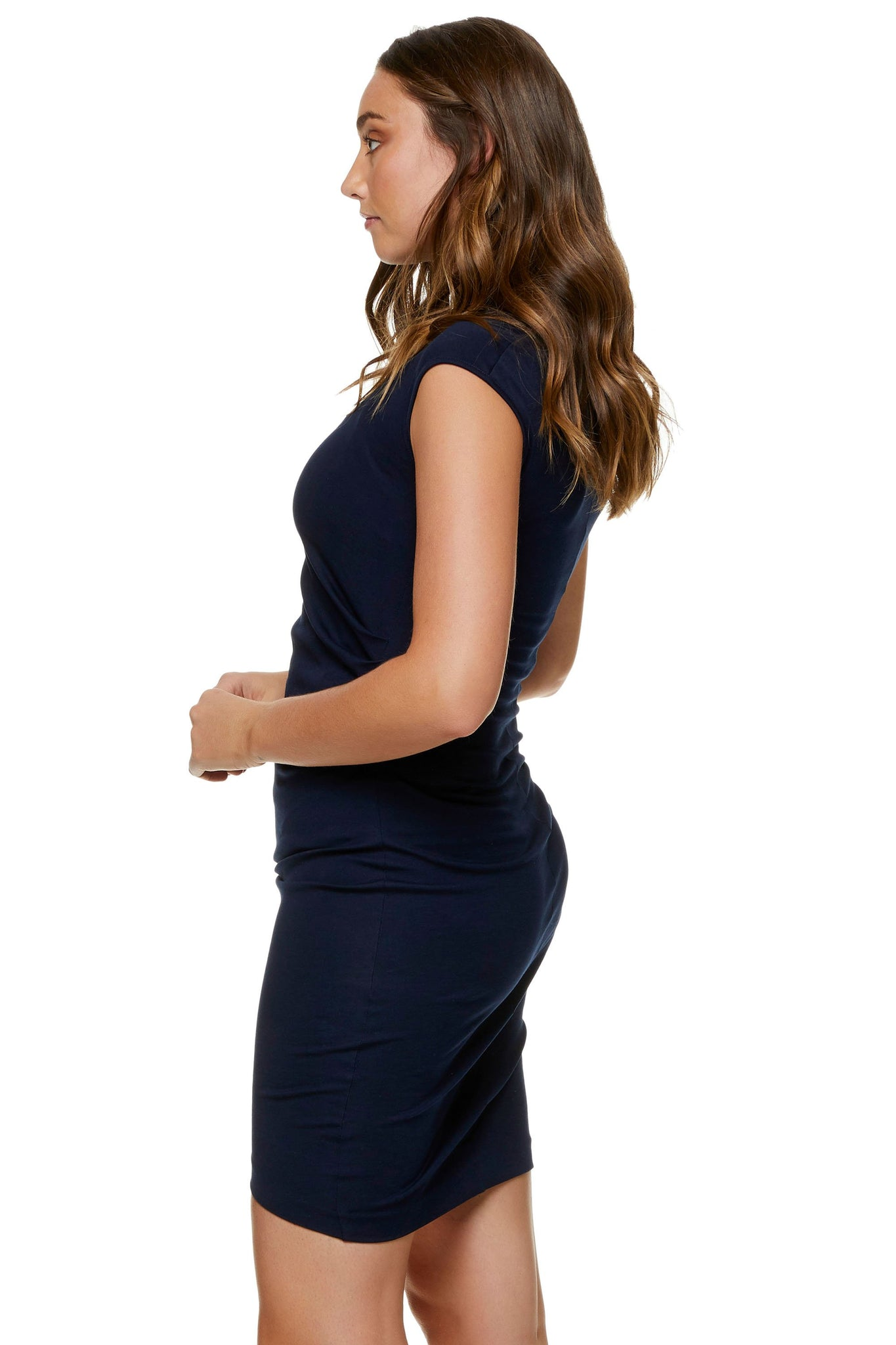 Navy Maternity Dress - Work Maternity Dress 6