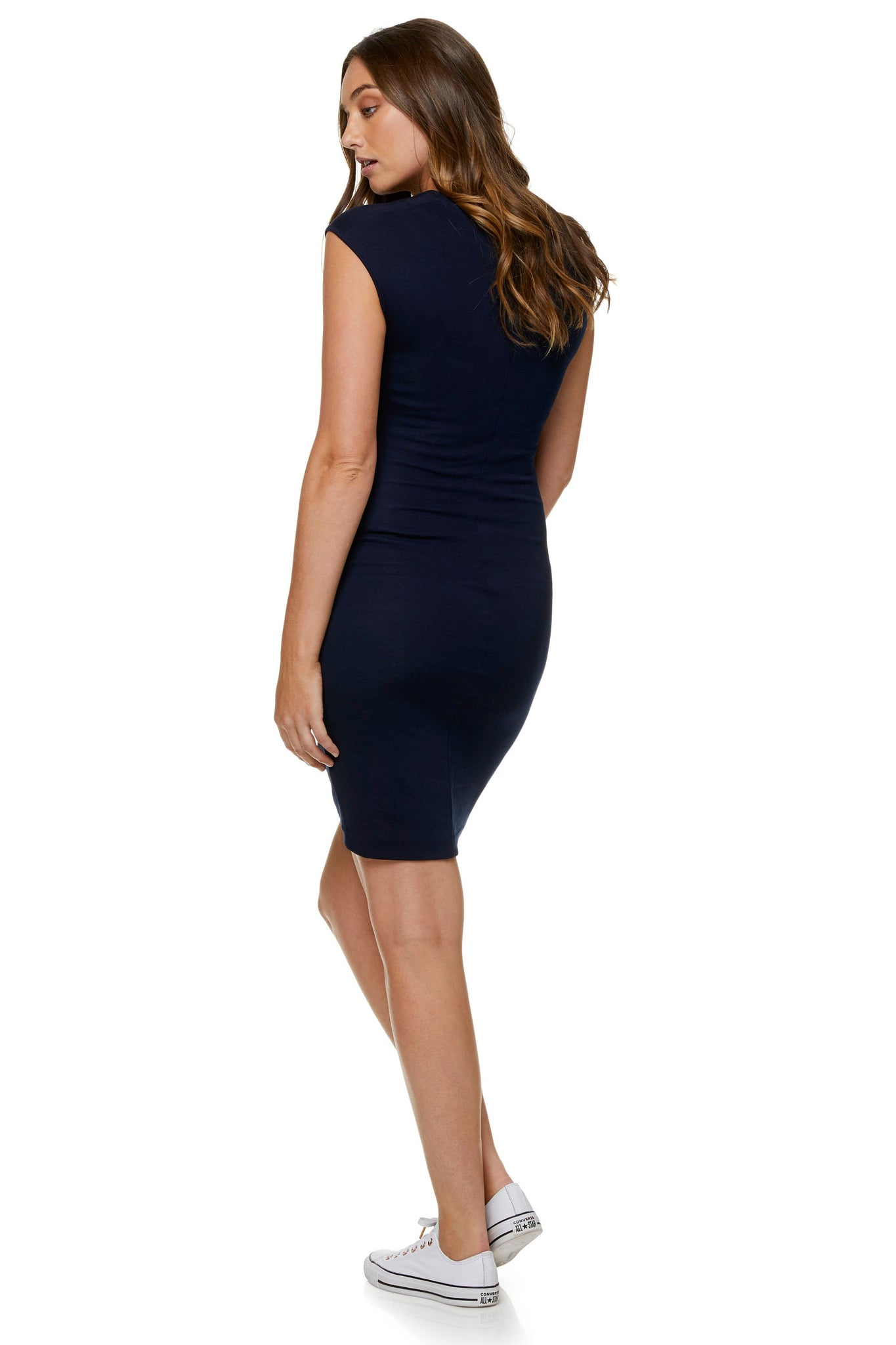 Navy Maternity Dress - Work Maternity Dress 7