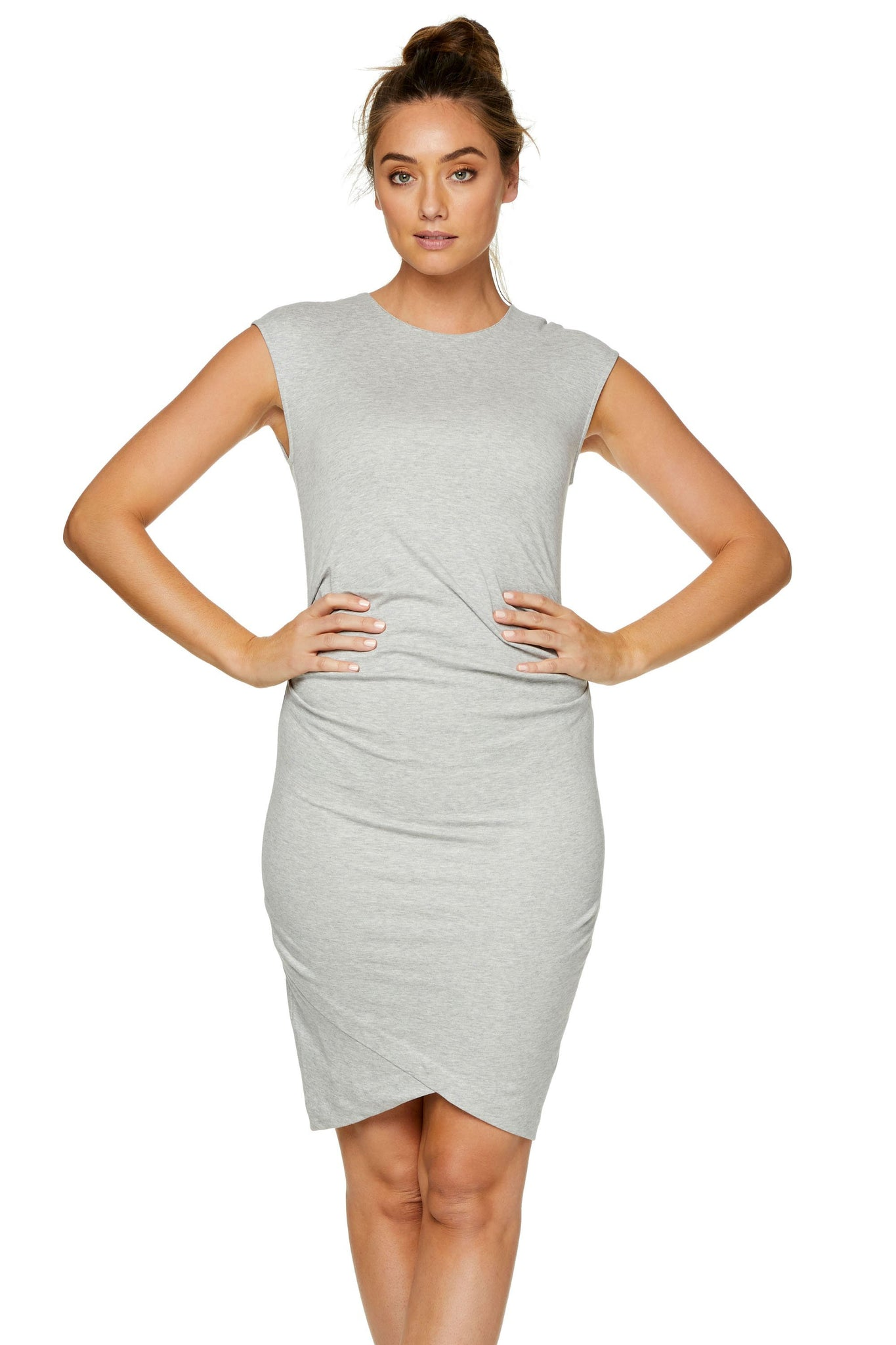 Bodycon Maternity Dress - Grey 6
