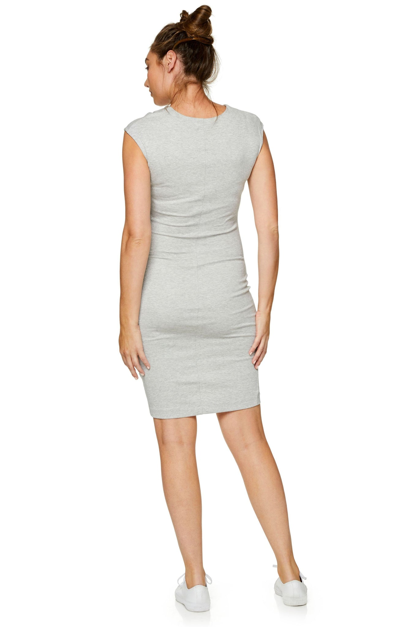 Bodycon Maternity Dress - Grey 8