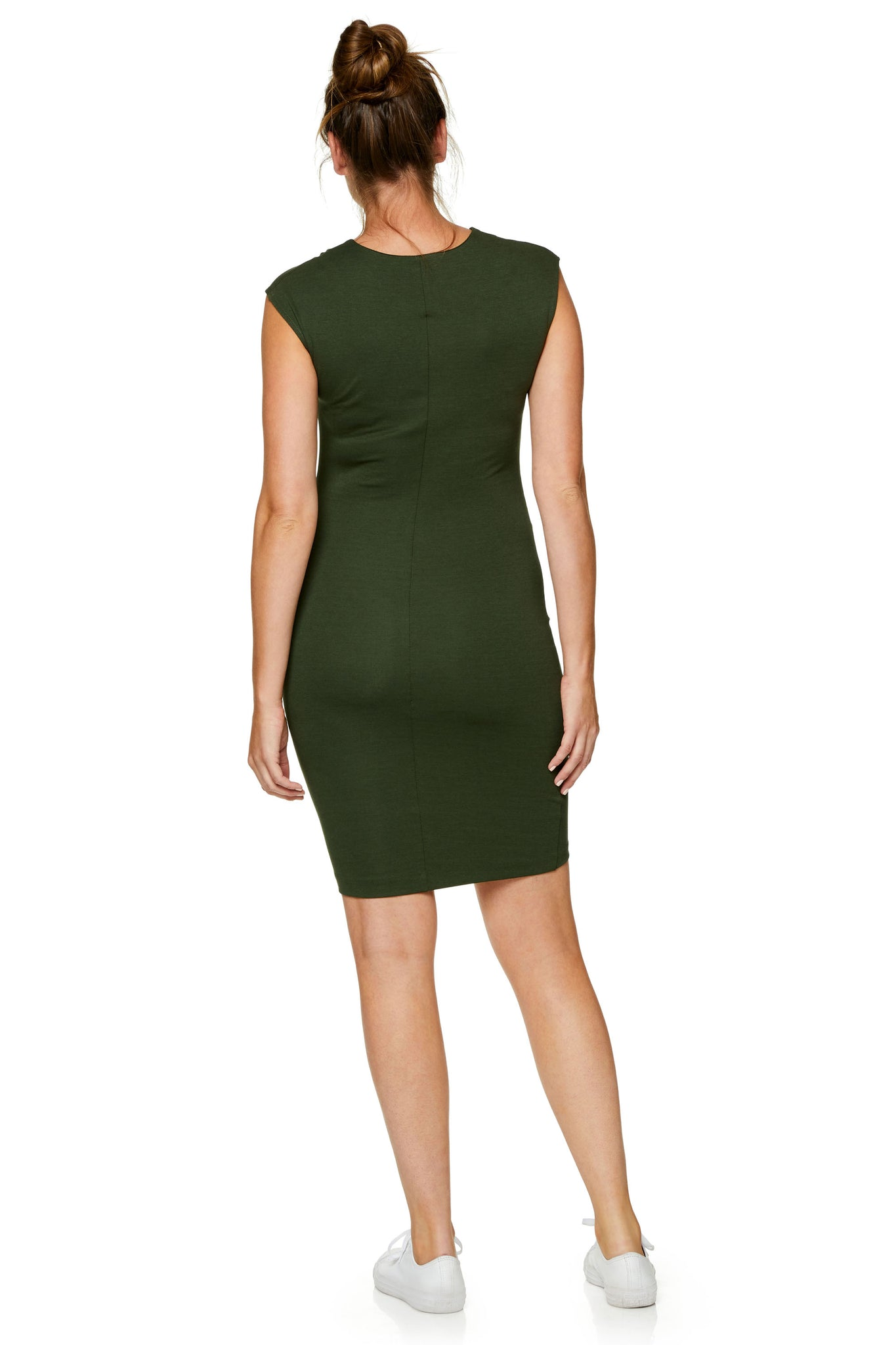 Khaki Maternity Bodycon Dress 7