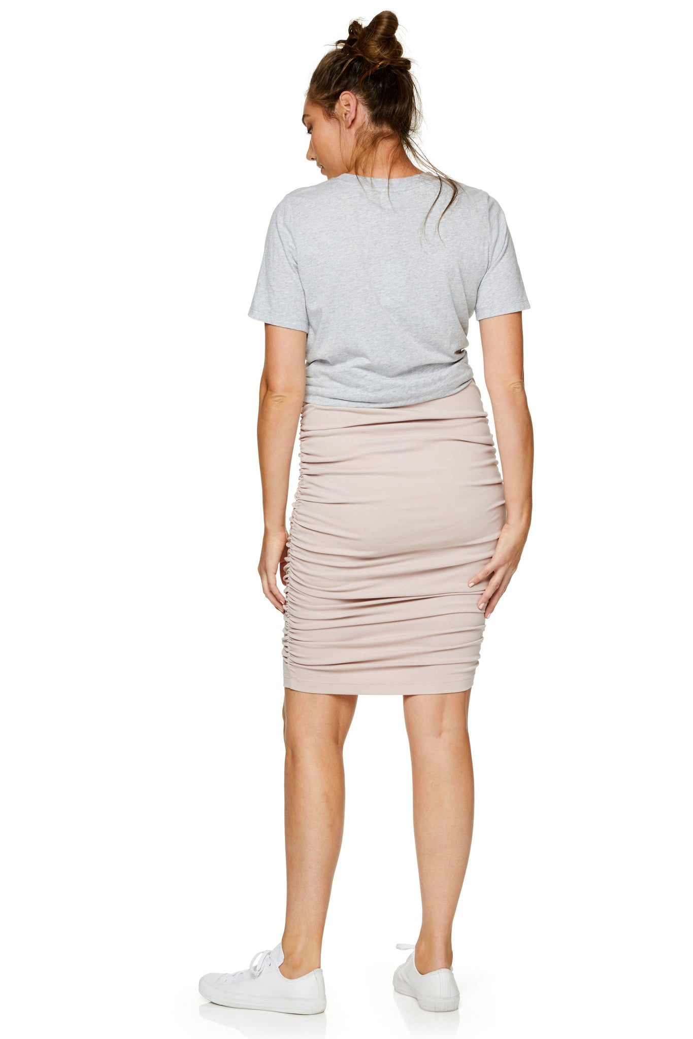 Ruched Maternity Skirt - Pink 8