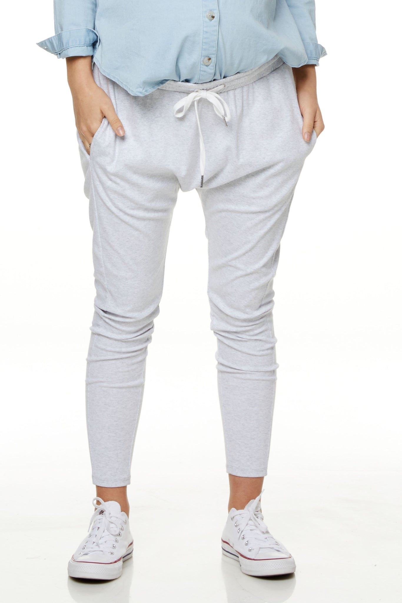 Grey Maternity Track Pants 1