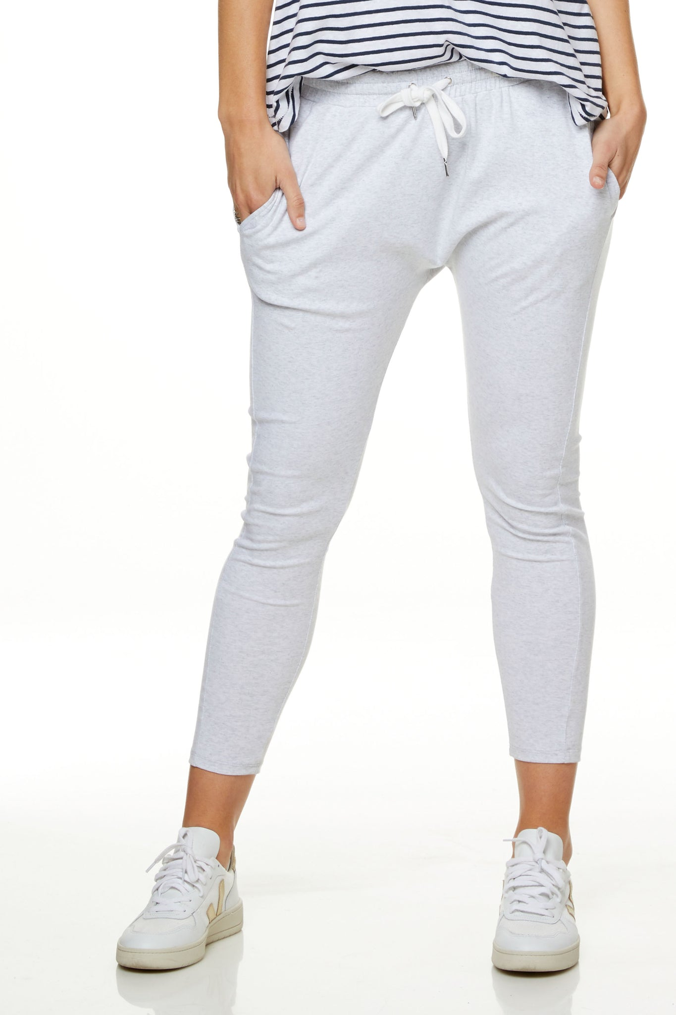 Grey Maternity Track Pants 6