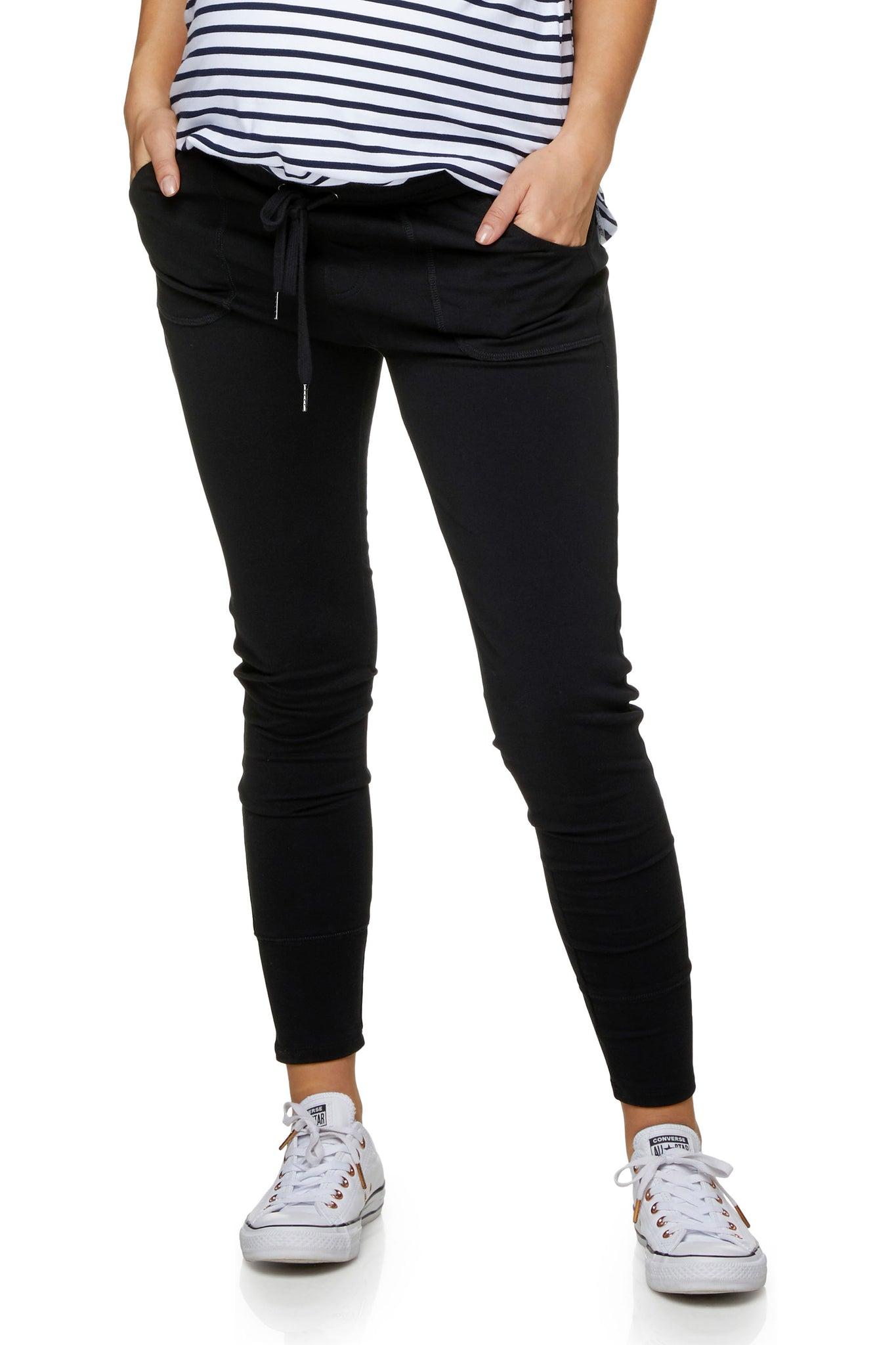 Black Maternity Pants / Jogger 1