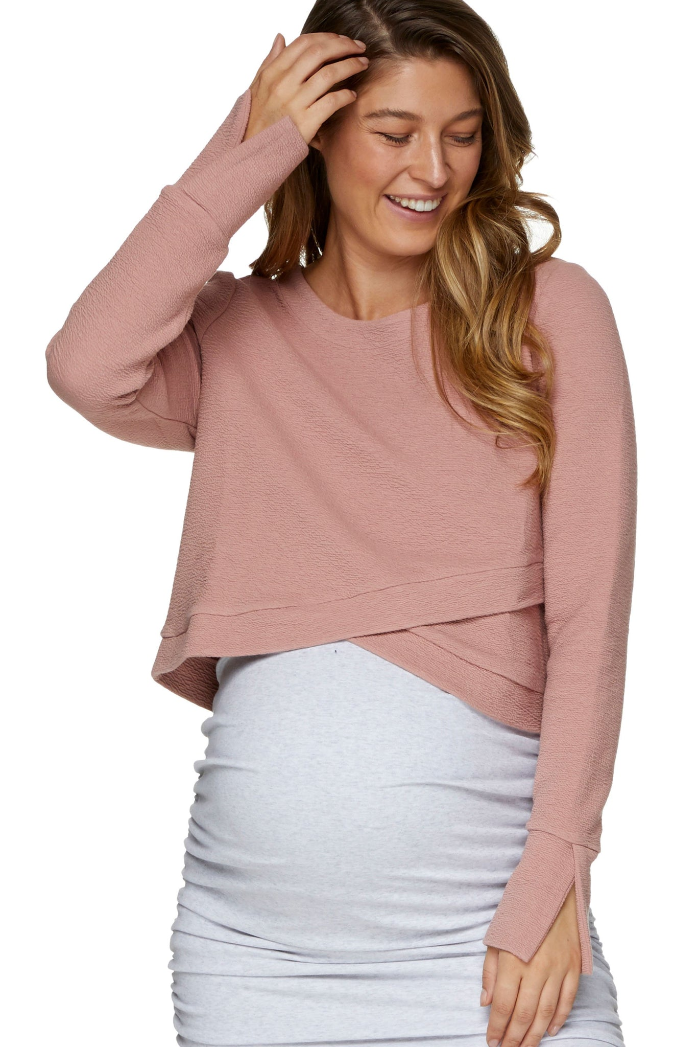 Maternity Crop Top Pink 1