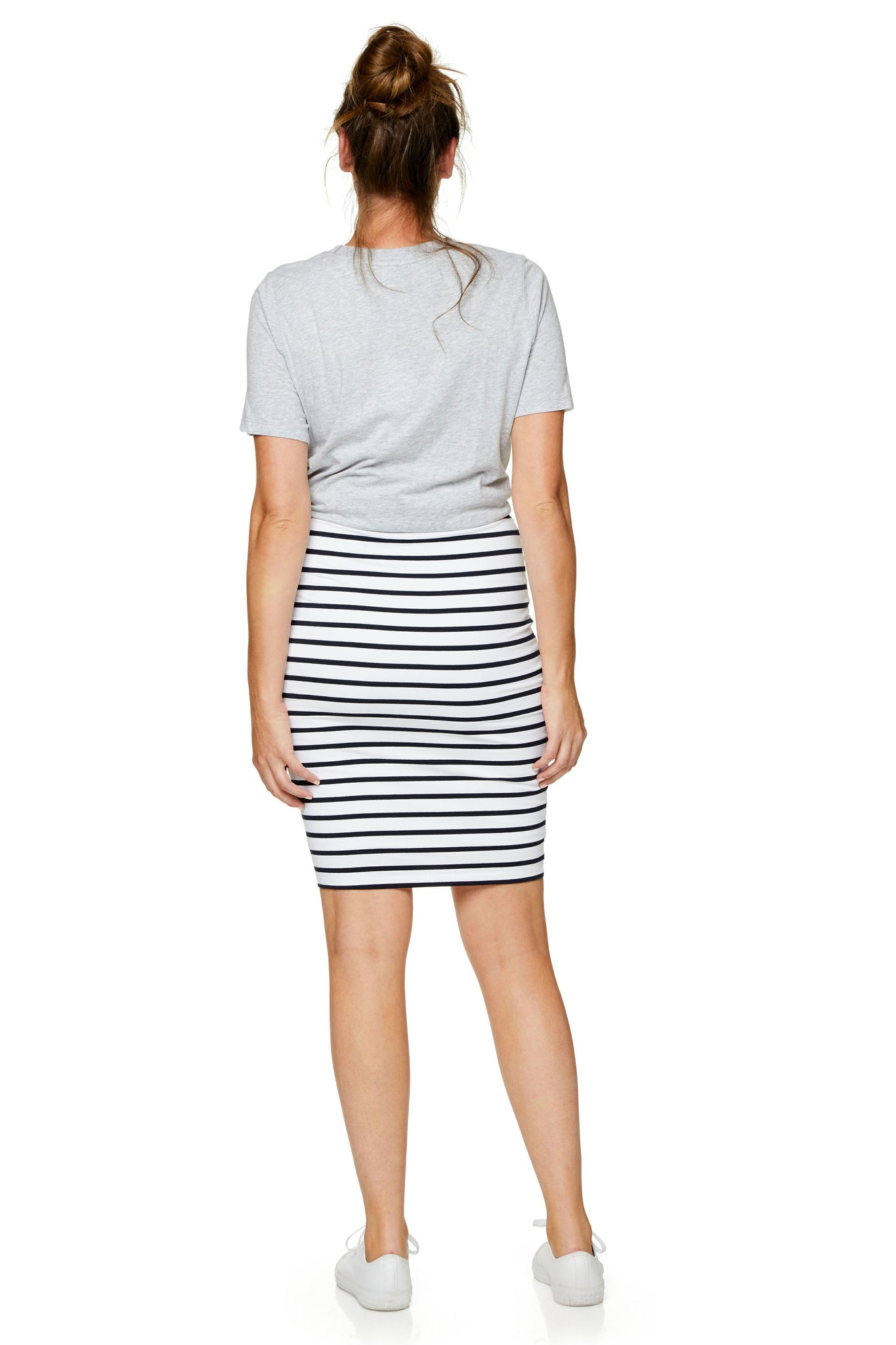 Bodycon Maternity Skirt Stripe Image 8