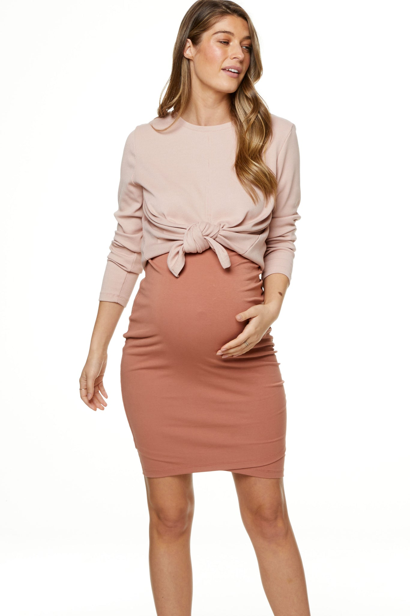 Bodycon Maternity Skirt Image 1