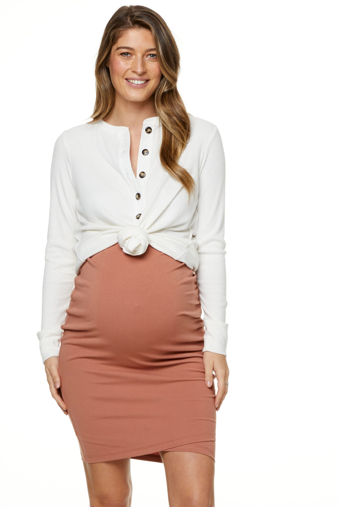 Bodycon Maternity Skirt Image 2