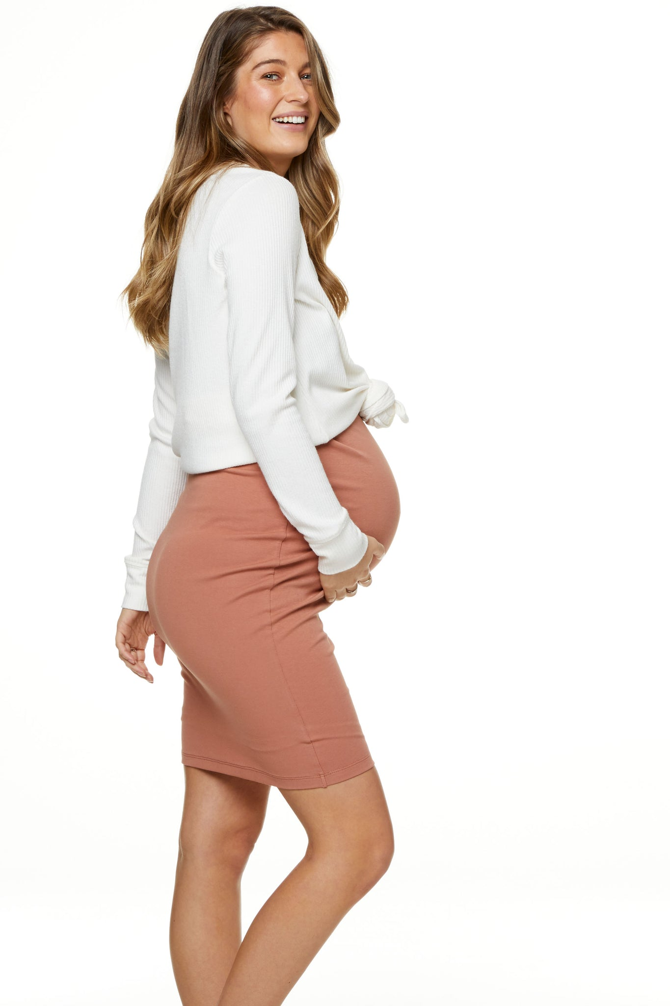 Bodycon Maternity Skirt Image 3