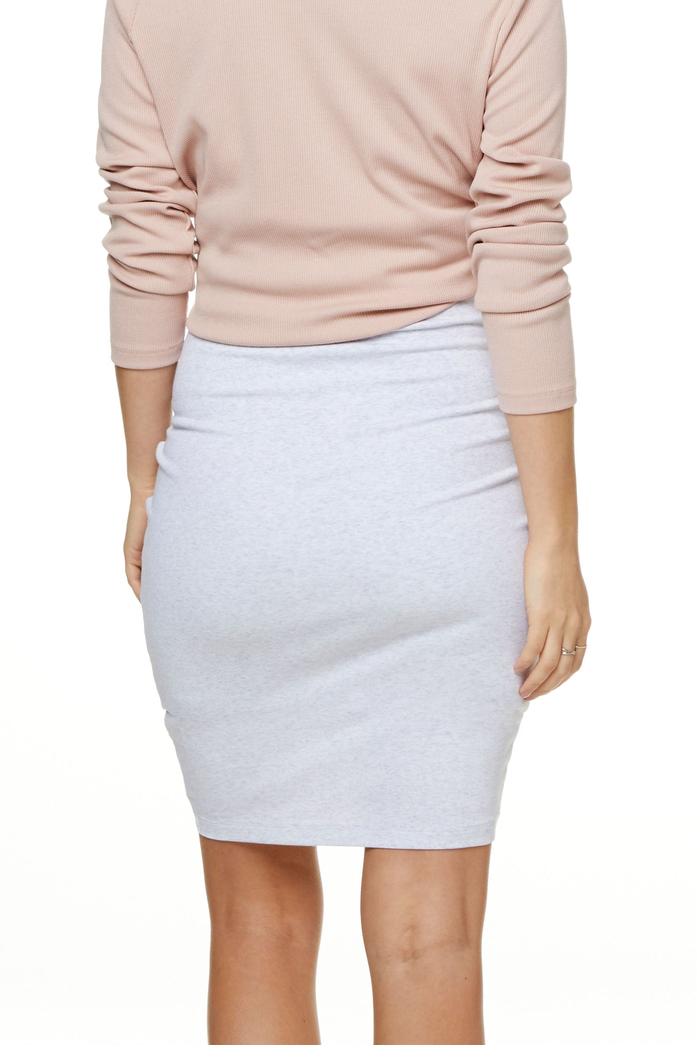 Bodycon Maternity Skirt Grey Marle Image 4