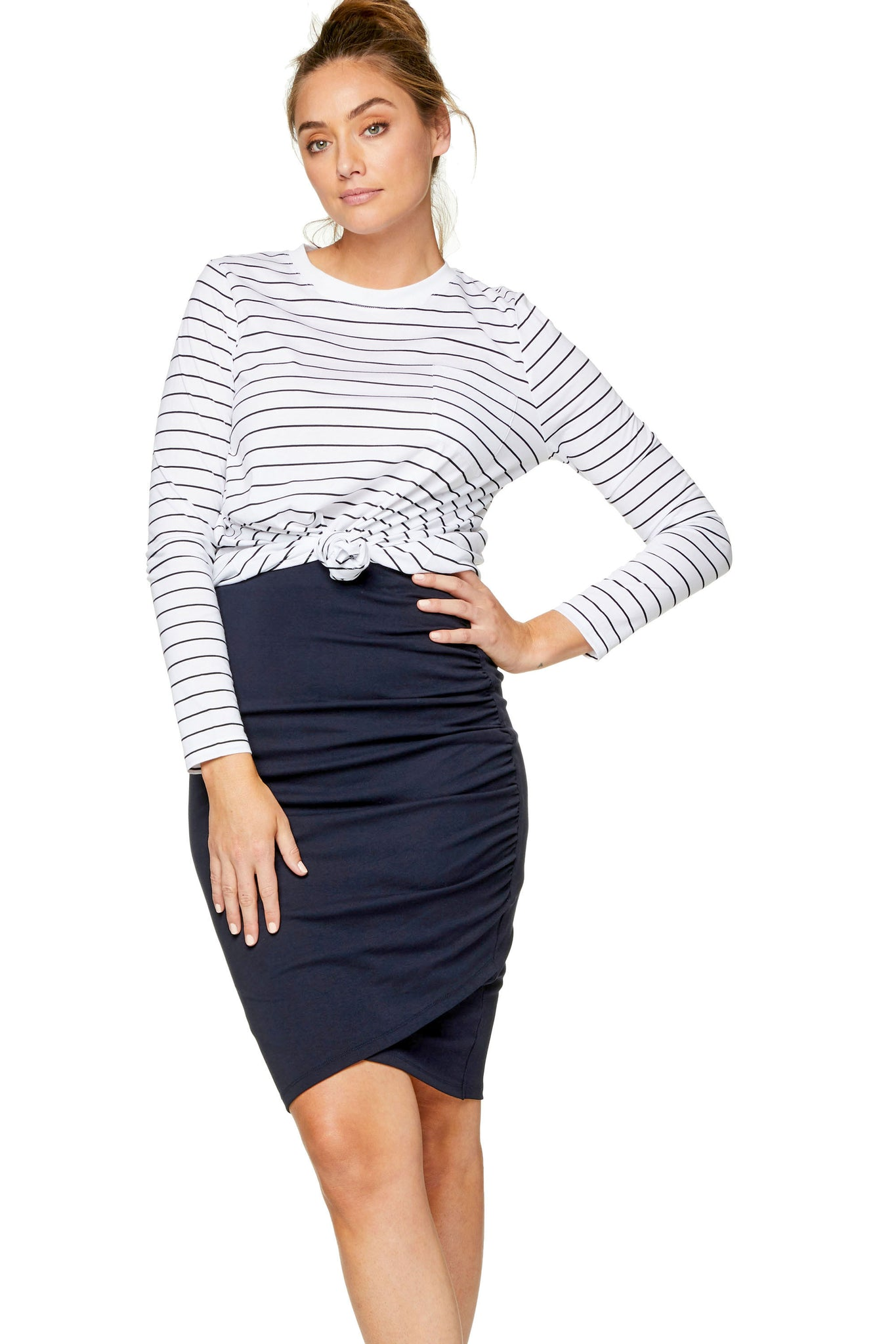 Bodycon maternity skirt - Navy 7