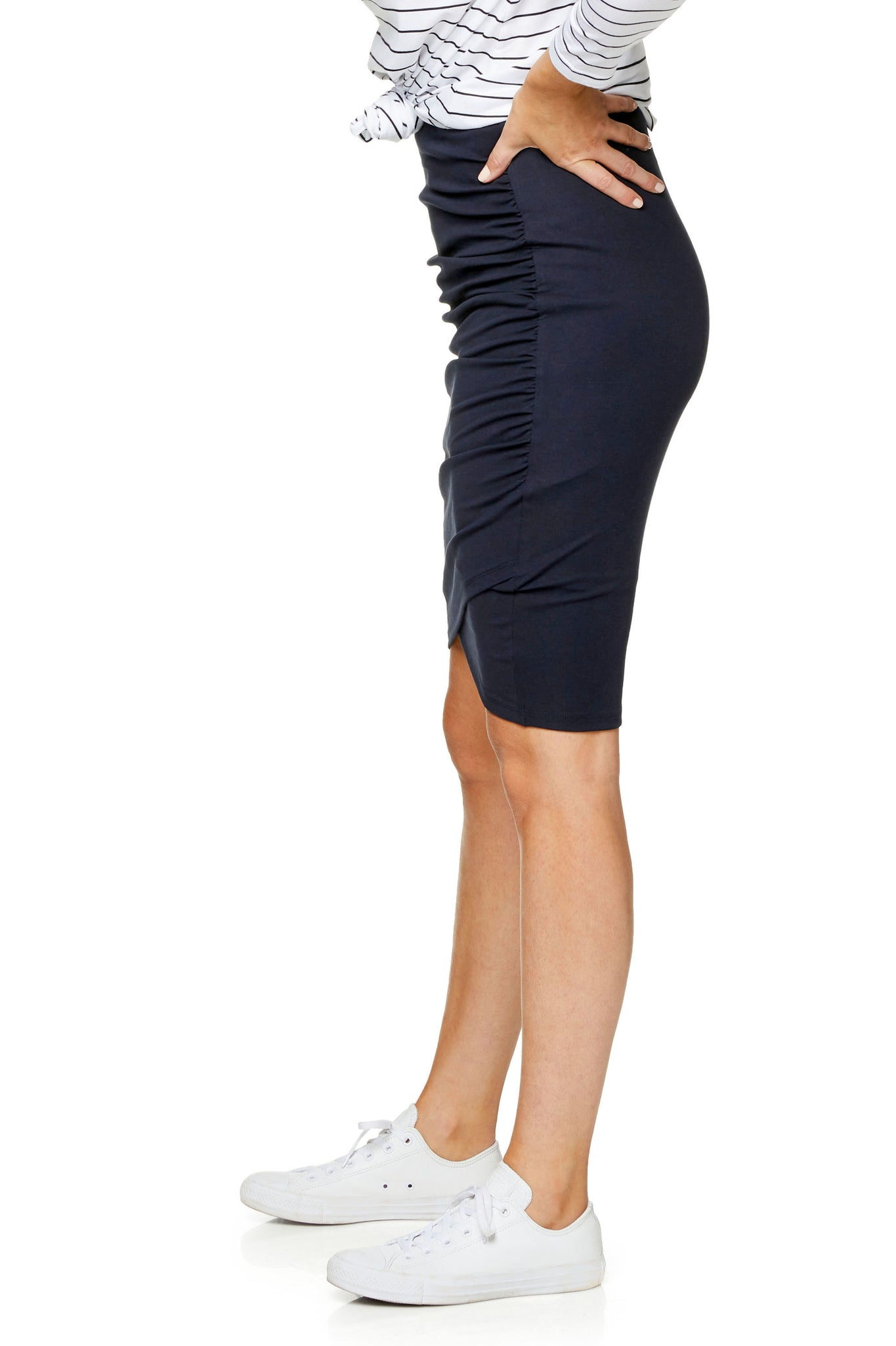 Bodycon maternity skirt - Navy 8