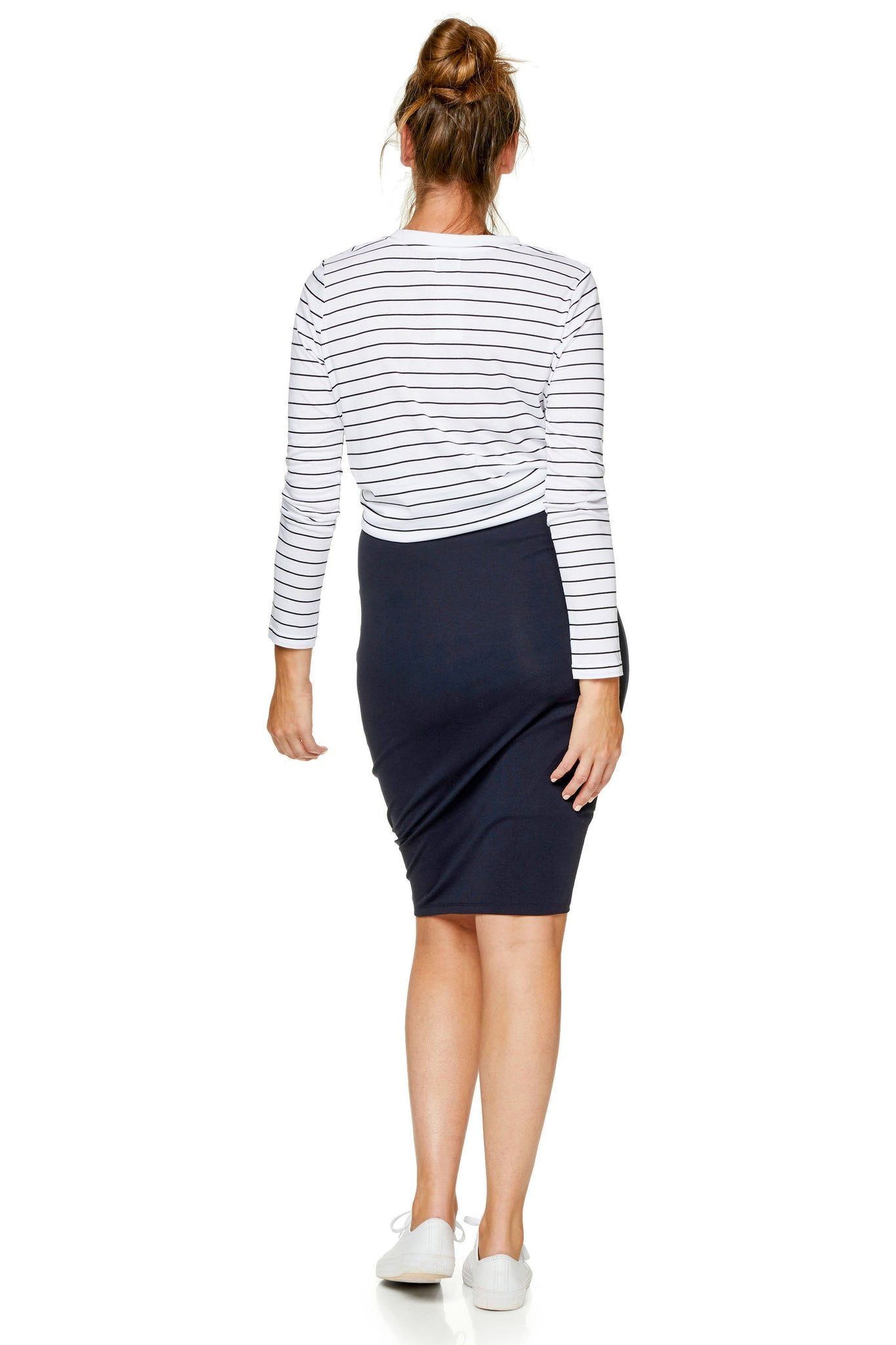 Bodycon maternity skirt - Navy 9