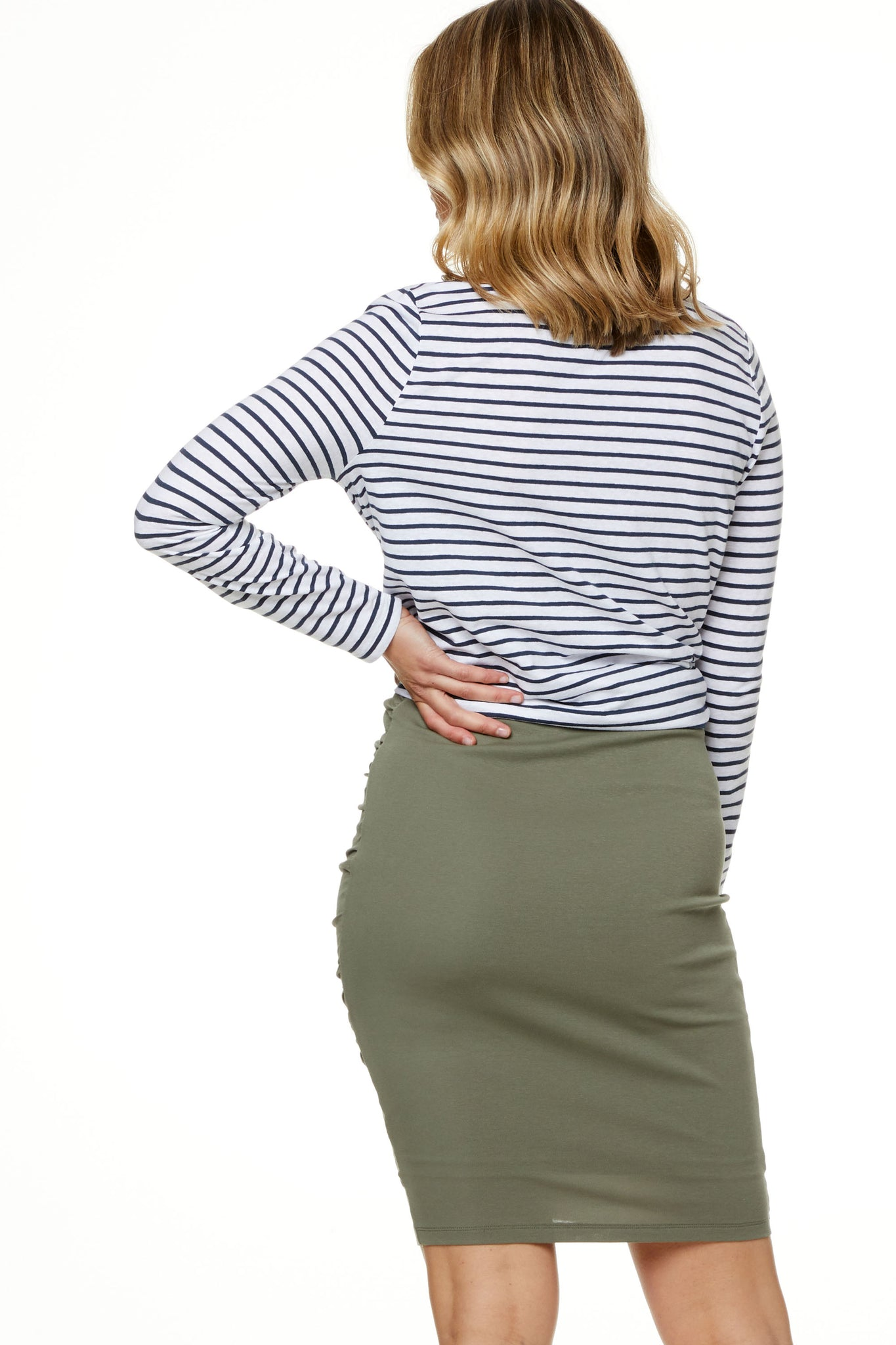 Bodycon Maternity Skirt Khaki Image 8