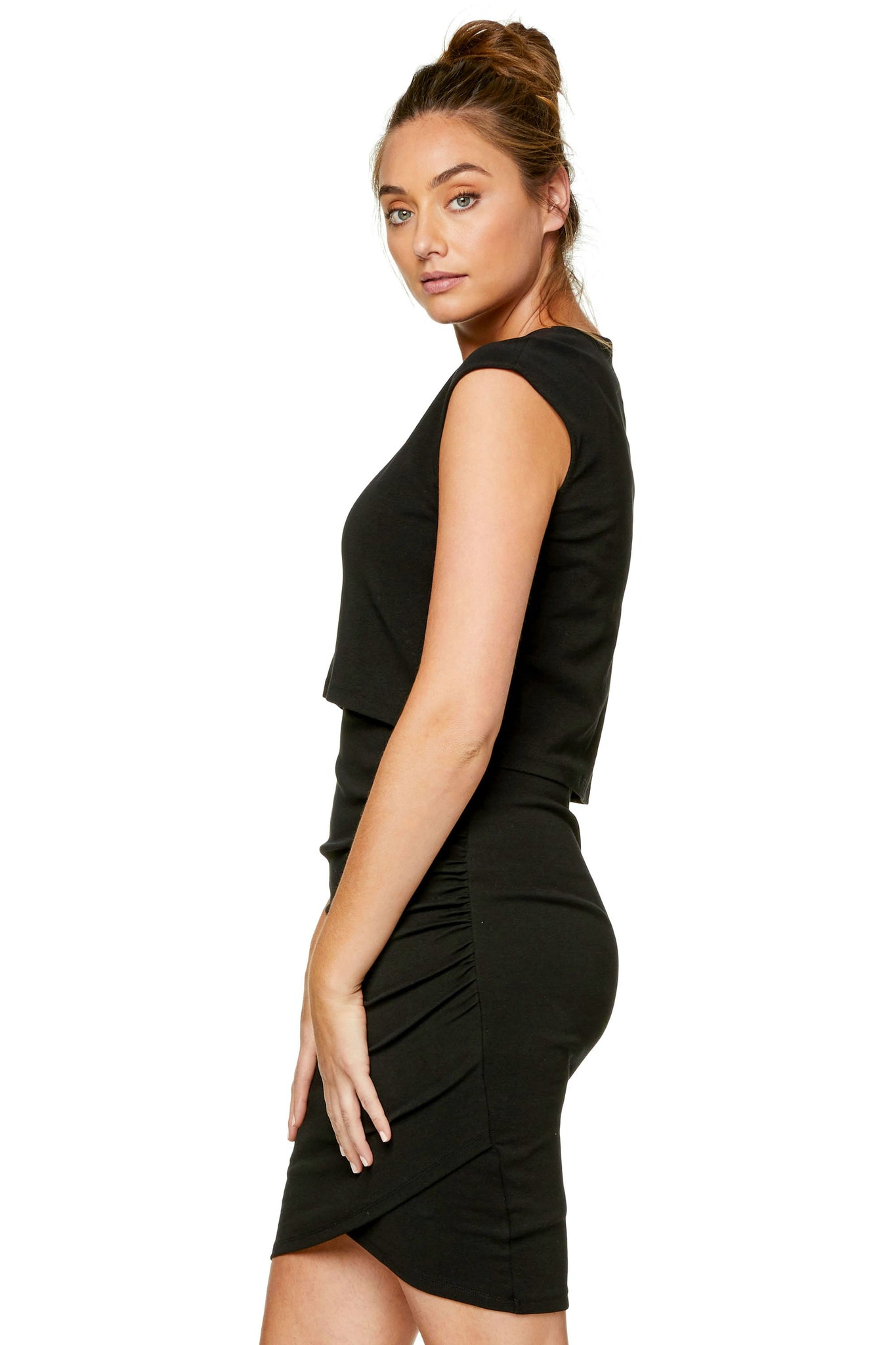 Maternity & Nursing Bodycon Dress - Black 8