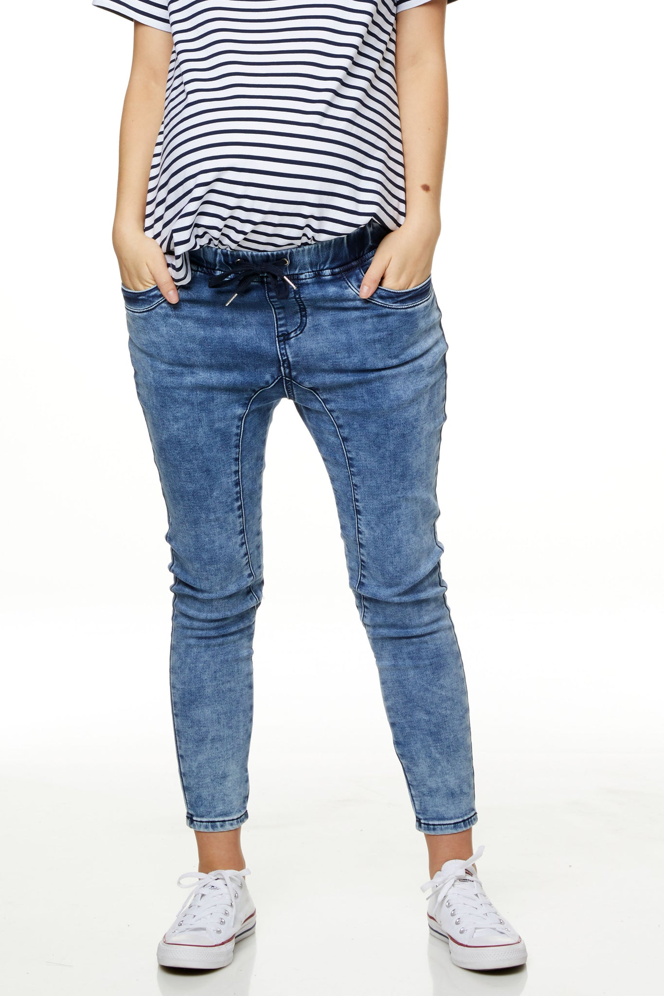 Maternity Jeans Joggers Image 1
