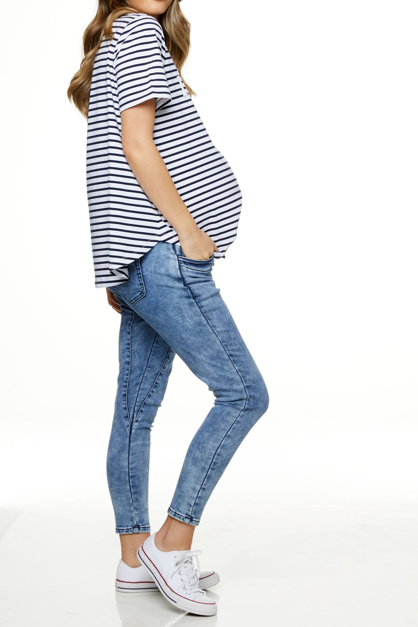 Maternity Jeans Joggers Image 2