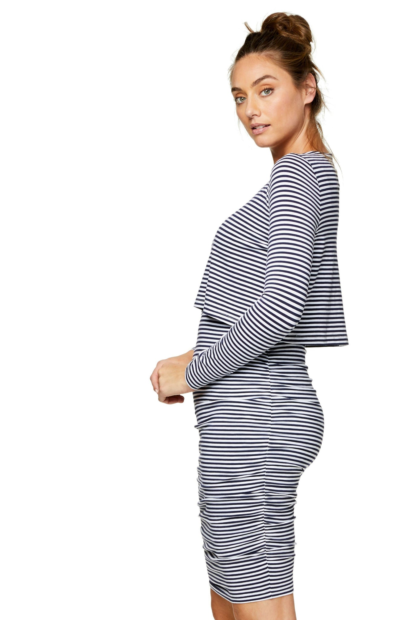 Nursing Dress - Stripe 6