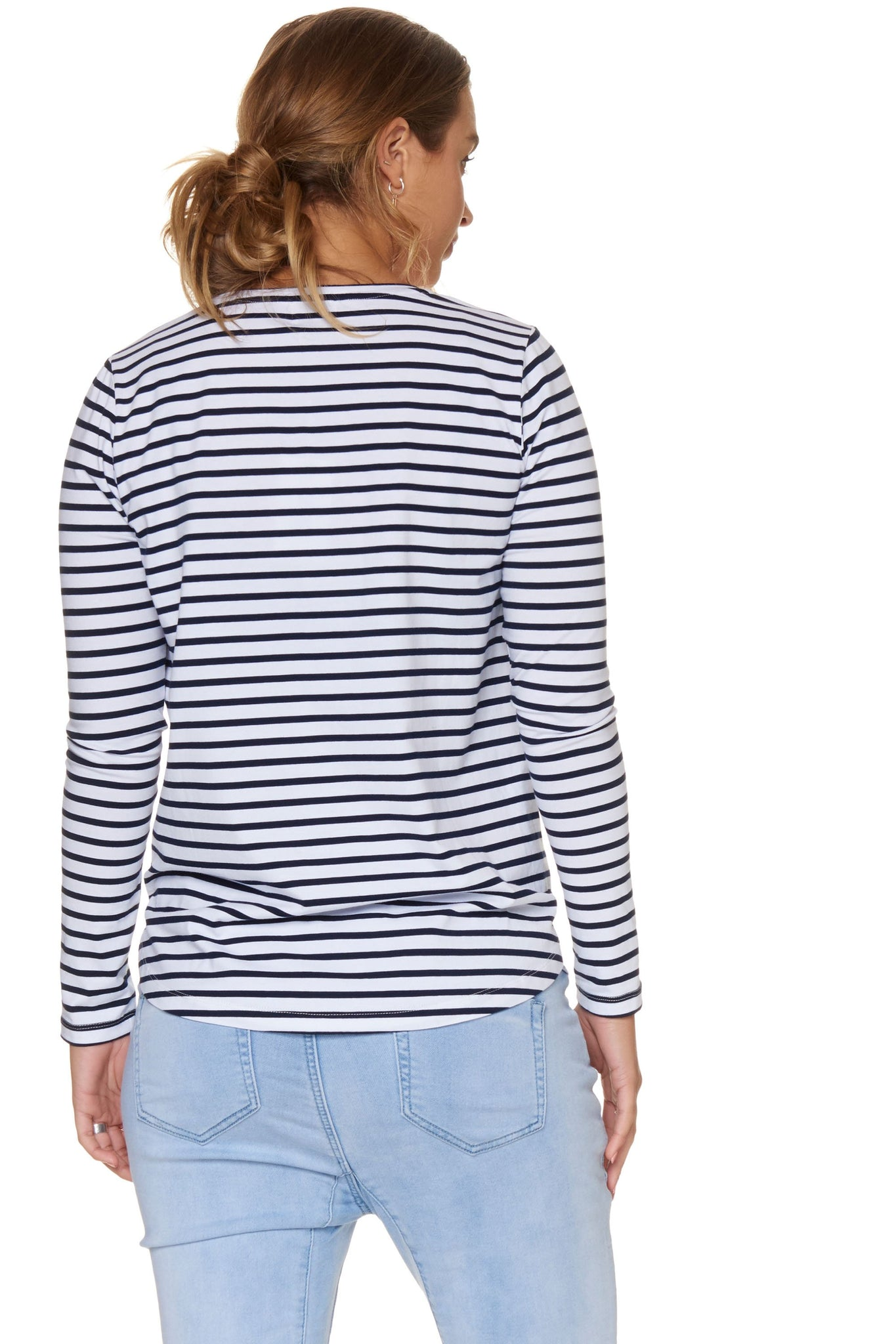 Maternity + Nursing Long Sleeve Top - Stripe 3