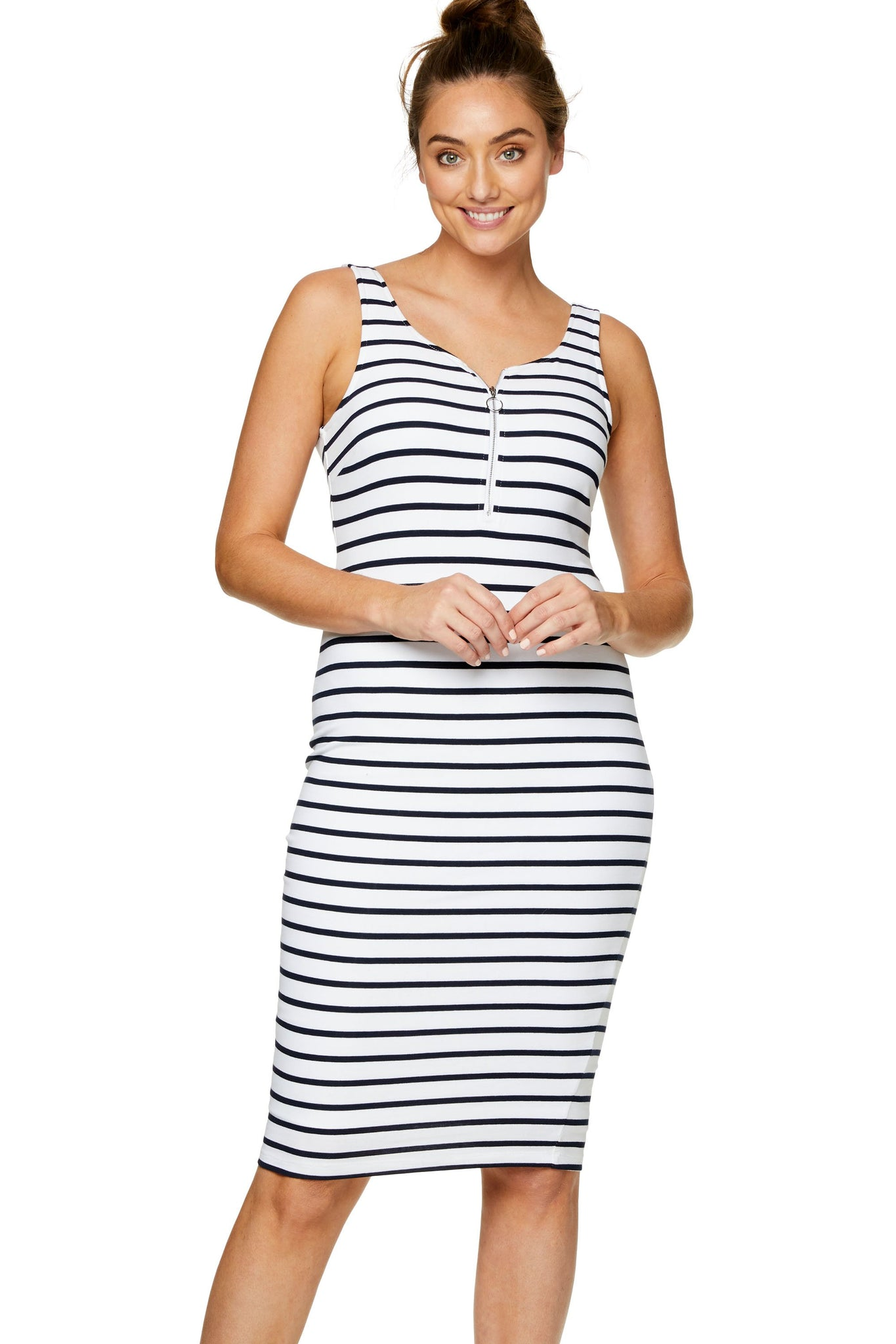 Maternity and Nursing Stripe Dress 6