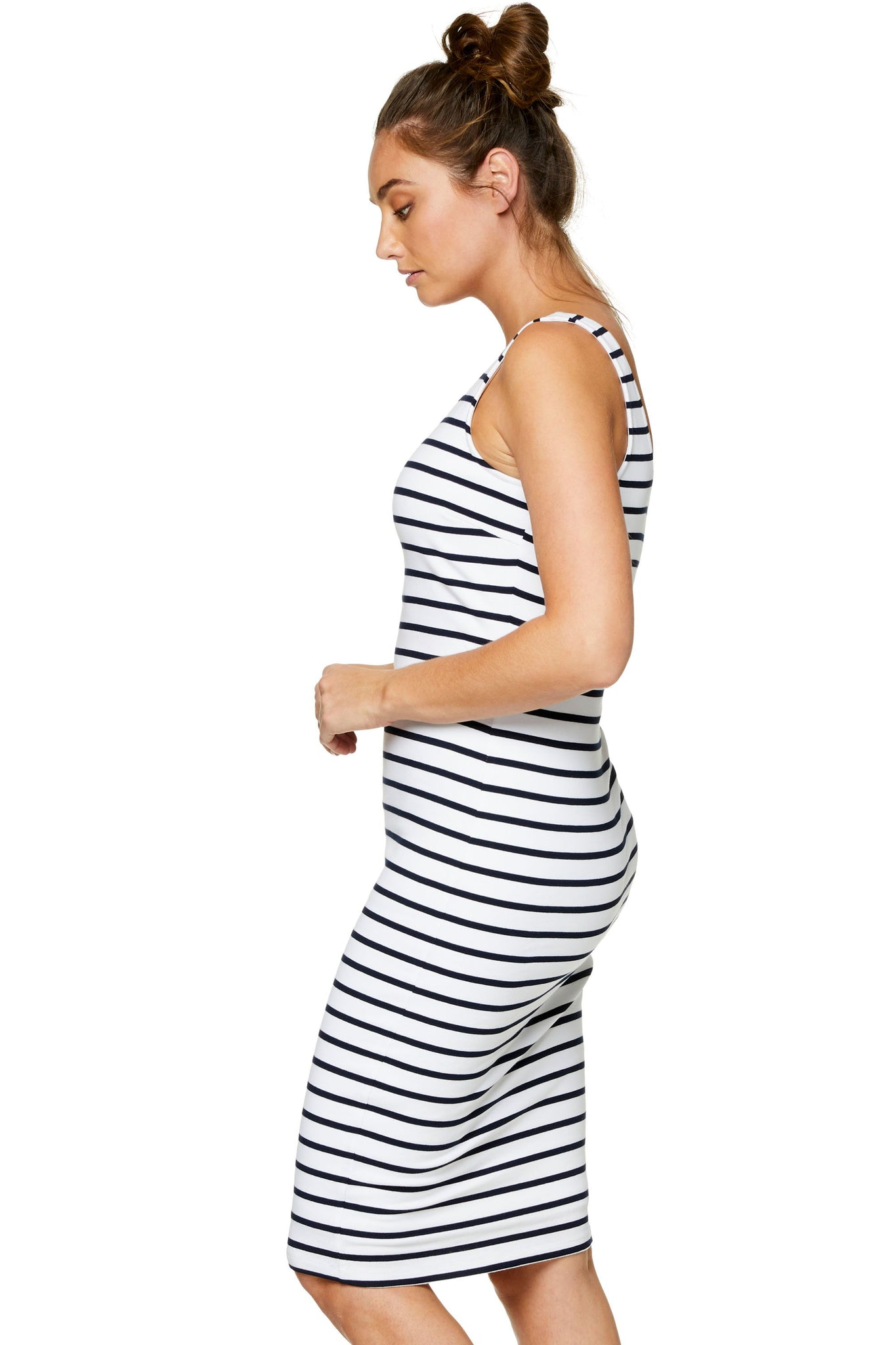 Maternity and Nursing Stripe Dress 7