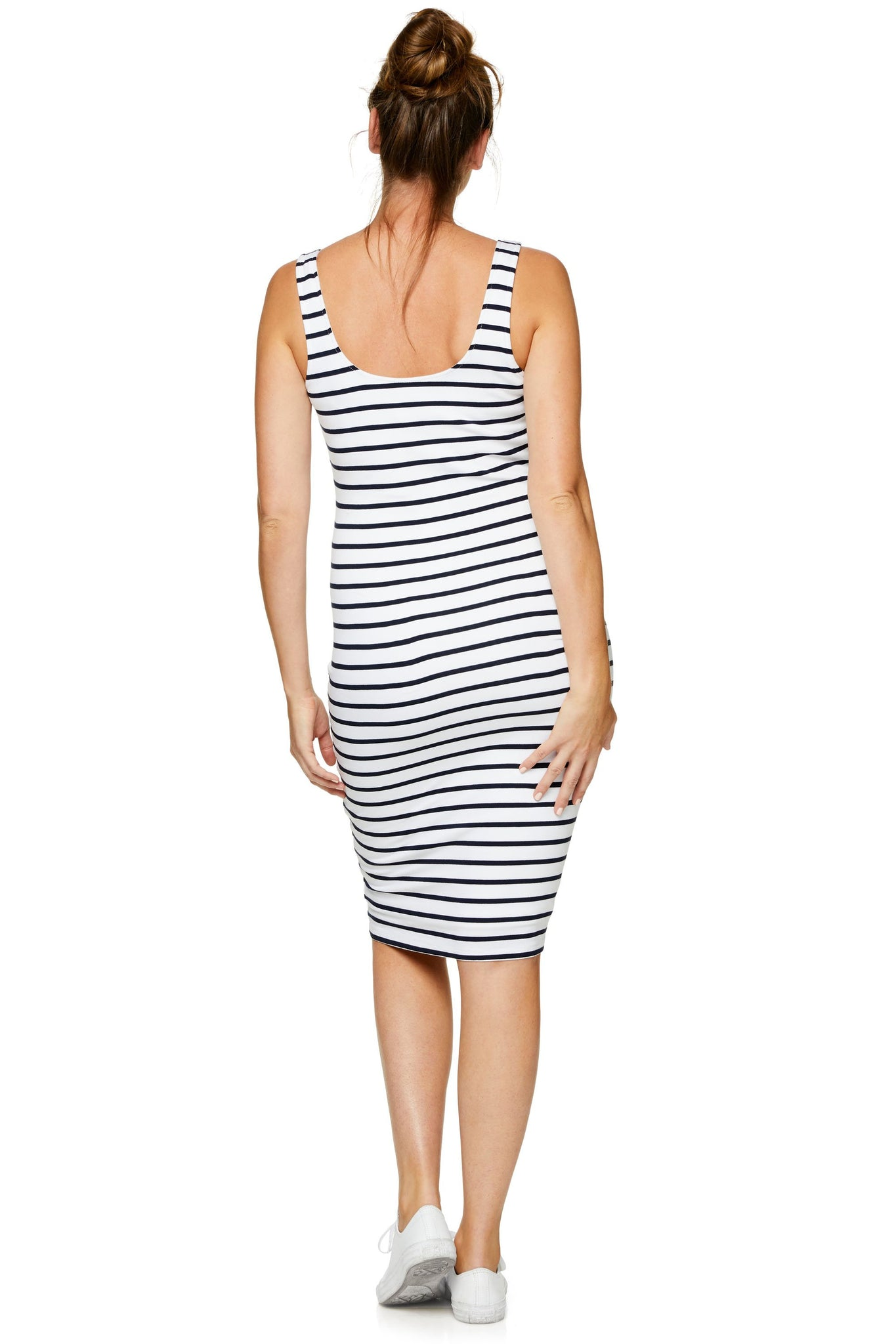 Maternity and Nursing Stripe Dress 8