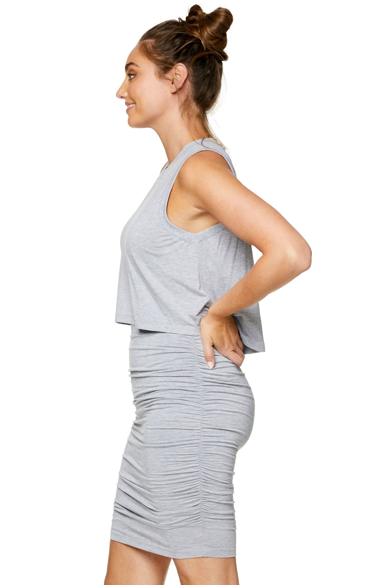 Maternity bodycon dress - Grey 6
