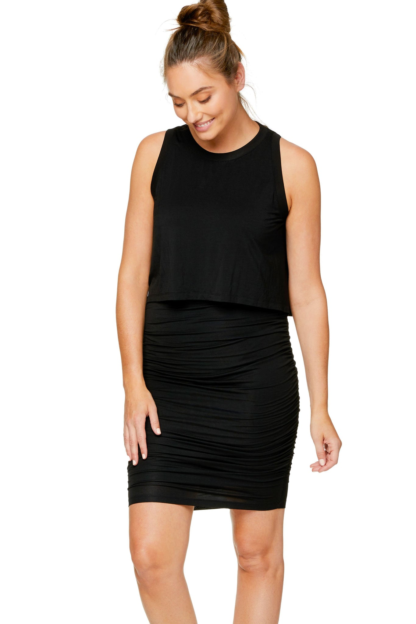Maternity bodycon dress - Black 6