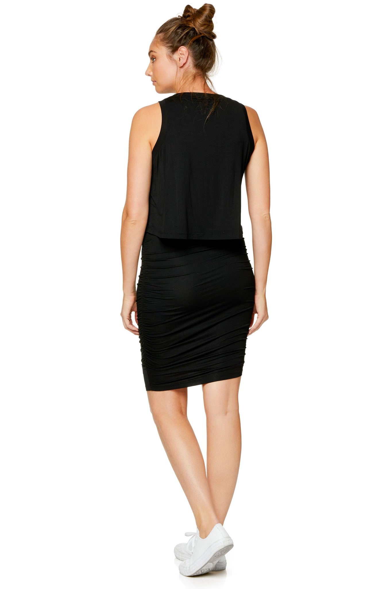Maternity bodycon dress - Black 7