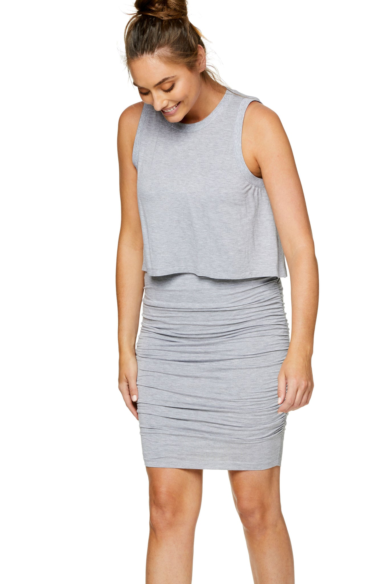 Maternity bodycon dress - Grey 5