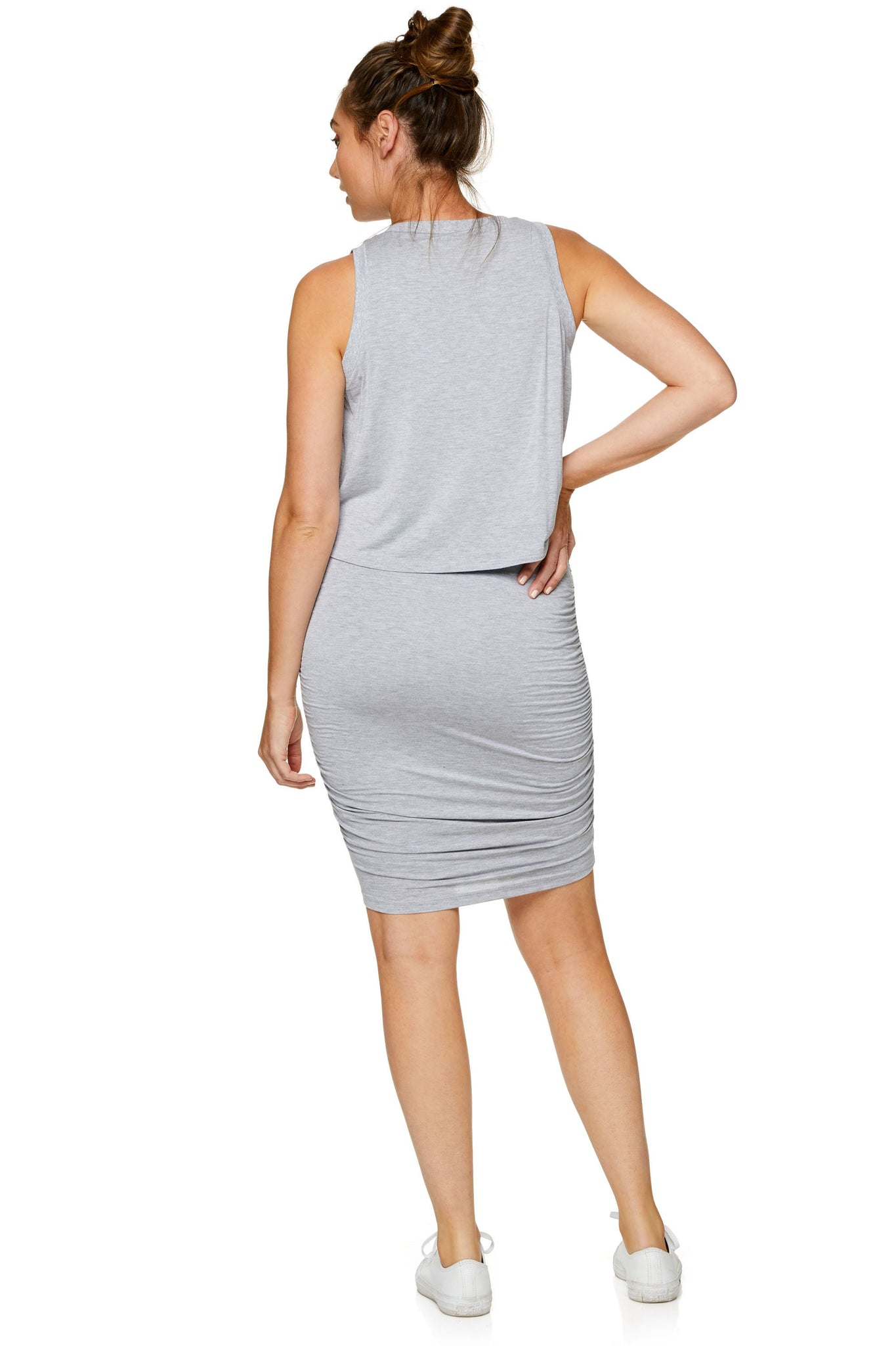 Maternity bodycon dress - Grey 7