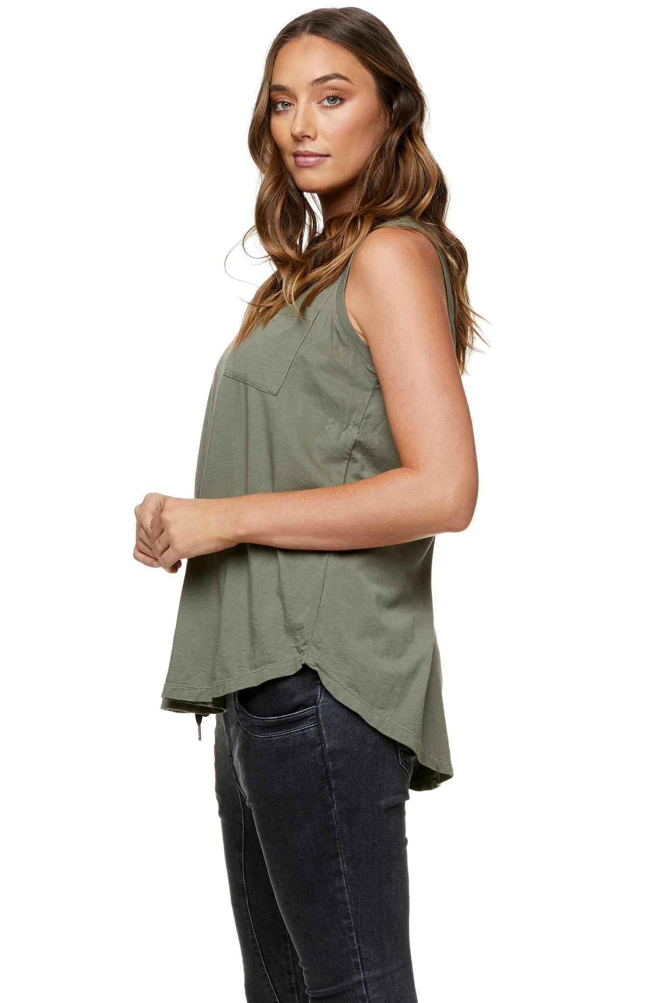 Maternity tank top Khaki 4