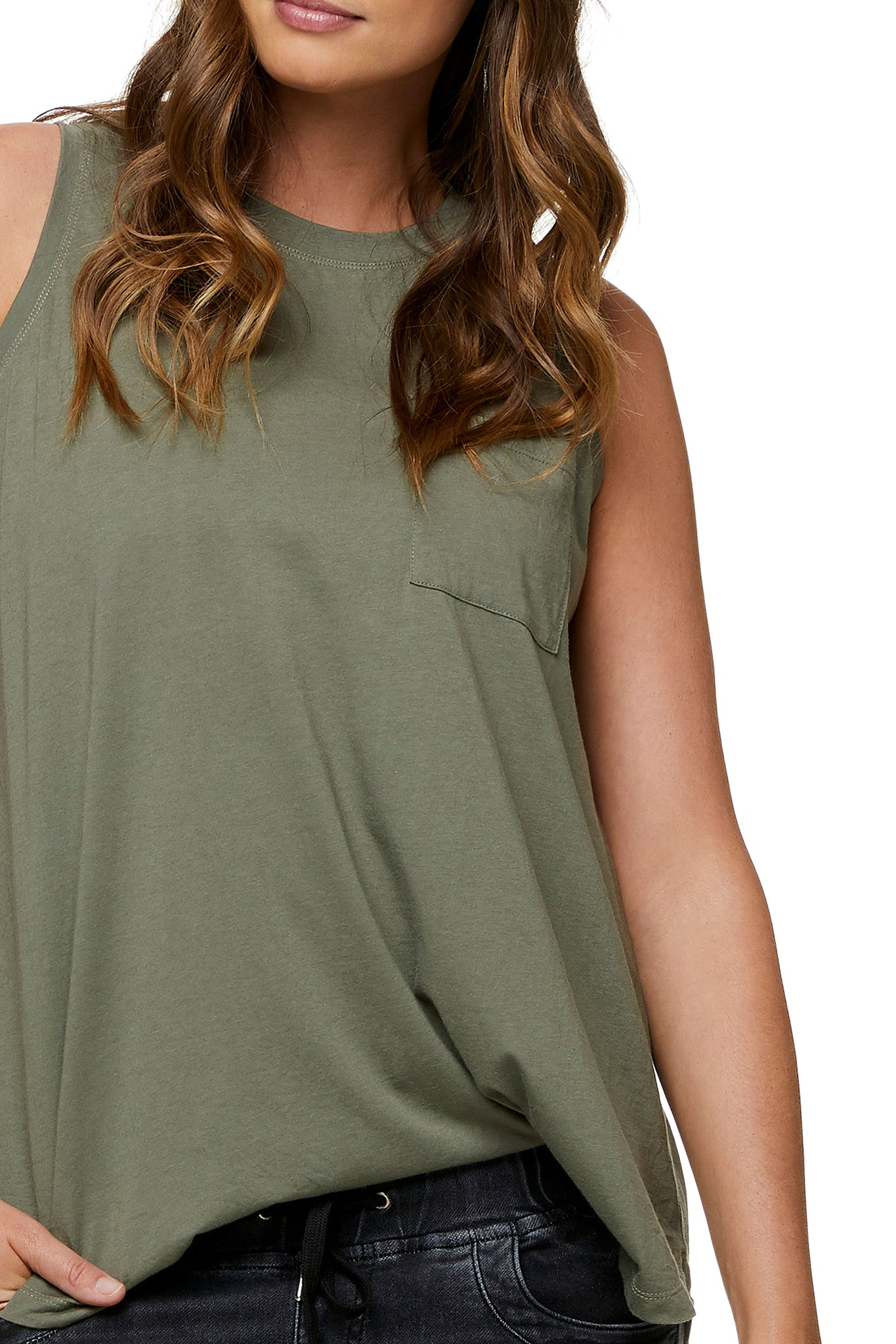 Maternity tank top Khaki 6