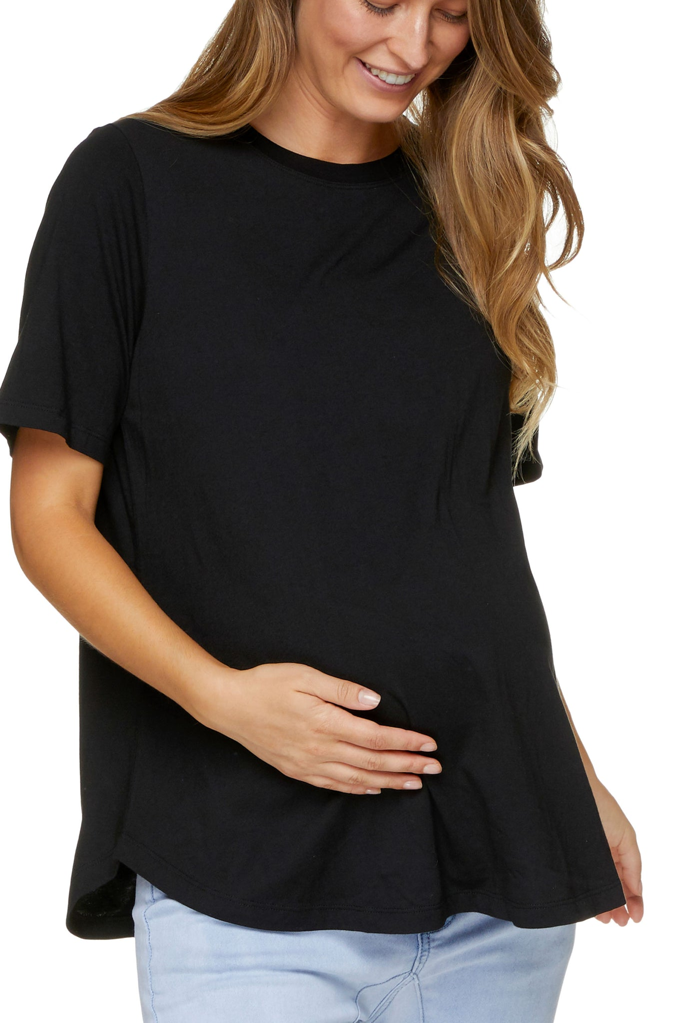 Maternity T Shirt - Black 4