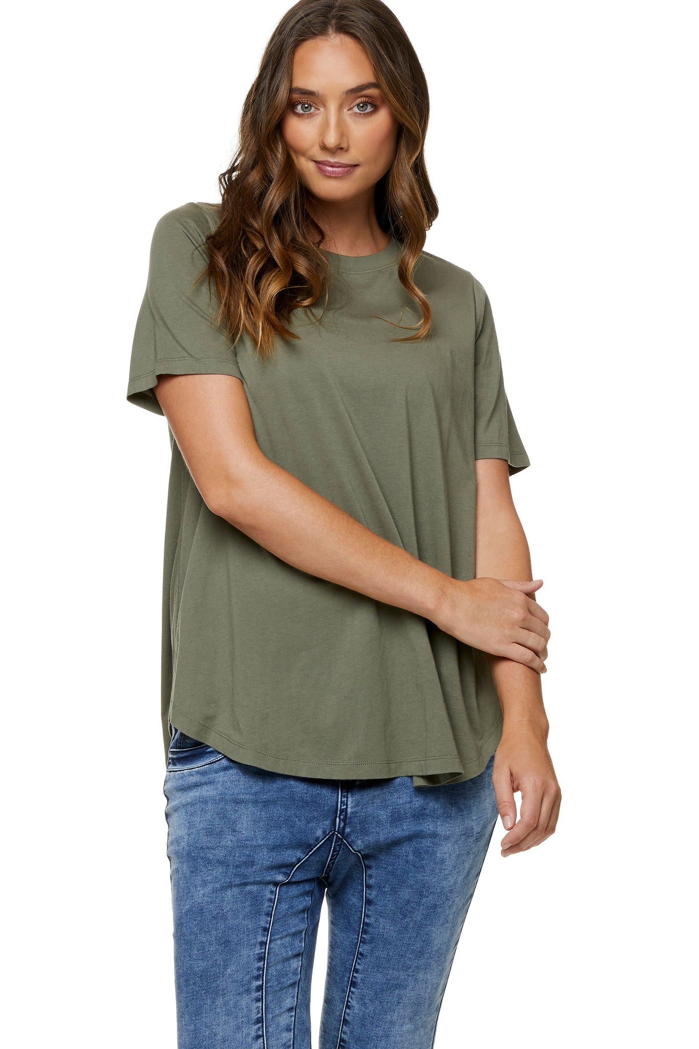 Khaki maternity t-shirt - Maternity top 5