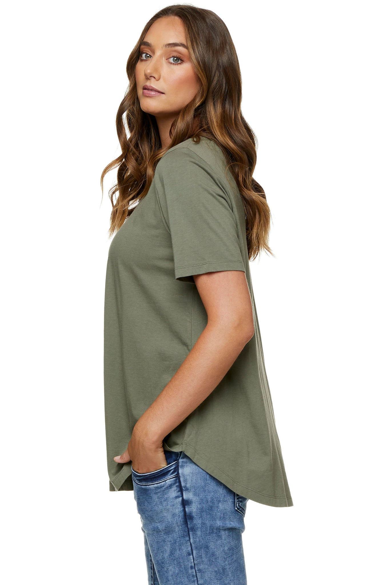 Khaki maternity t-shirt - Maternity top 6