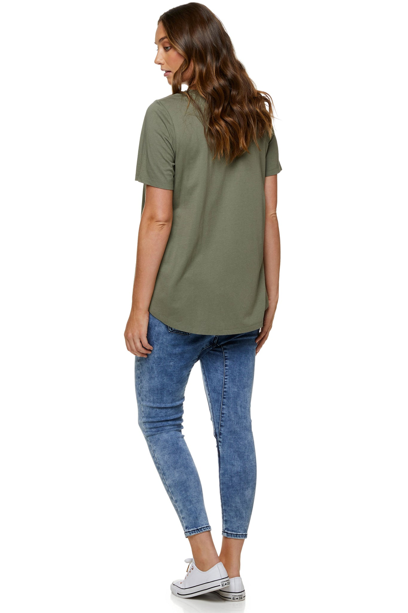 Khaki maternity t-shirt - Maternity top 7