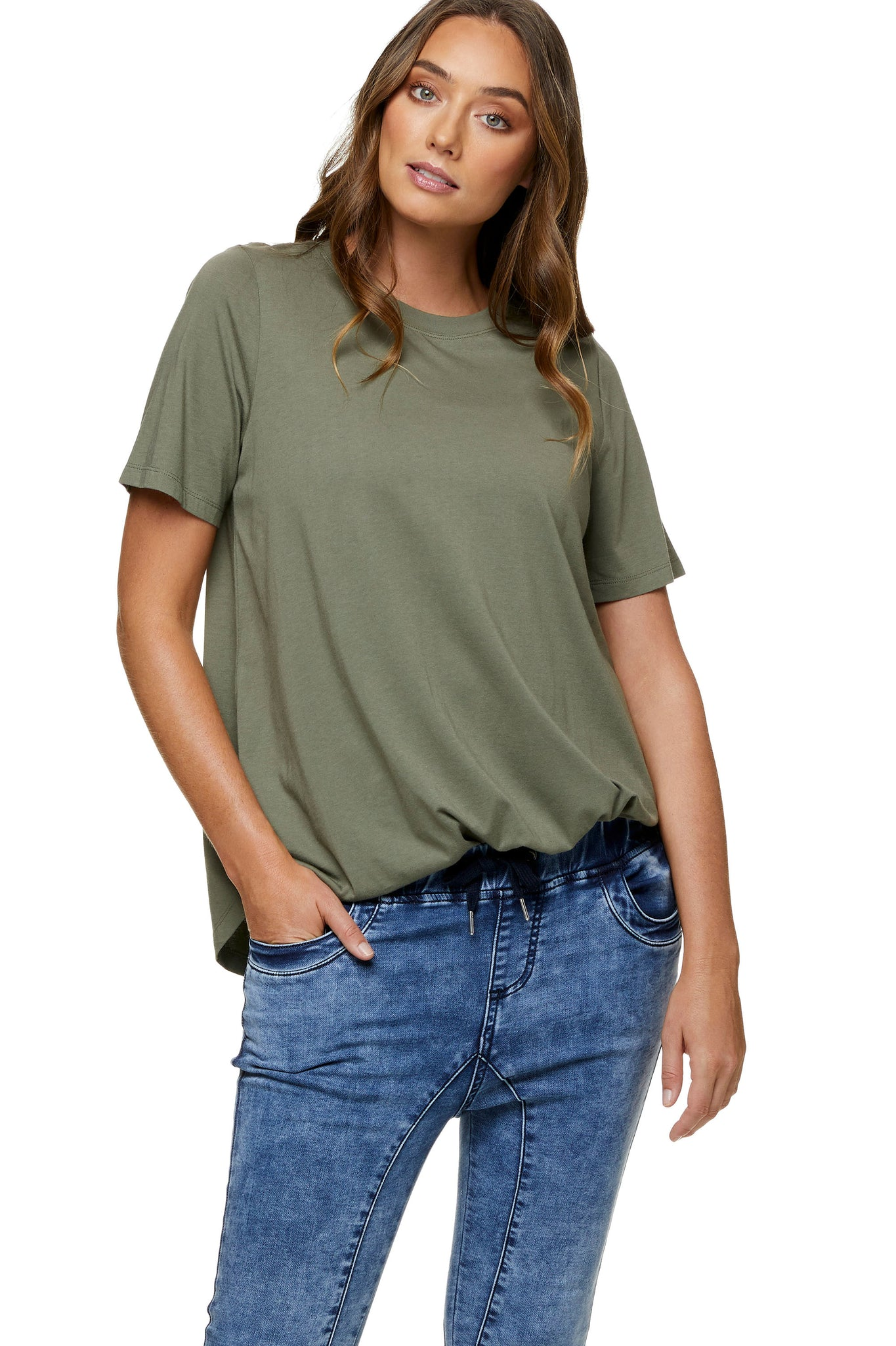 Khaki maternity t-shirt - Maternity top 8