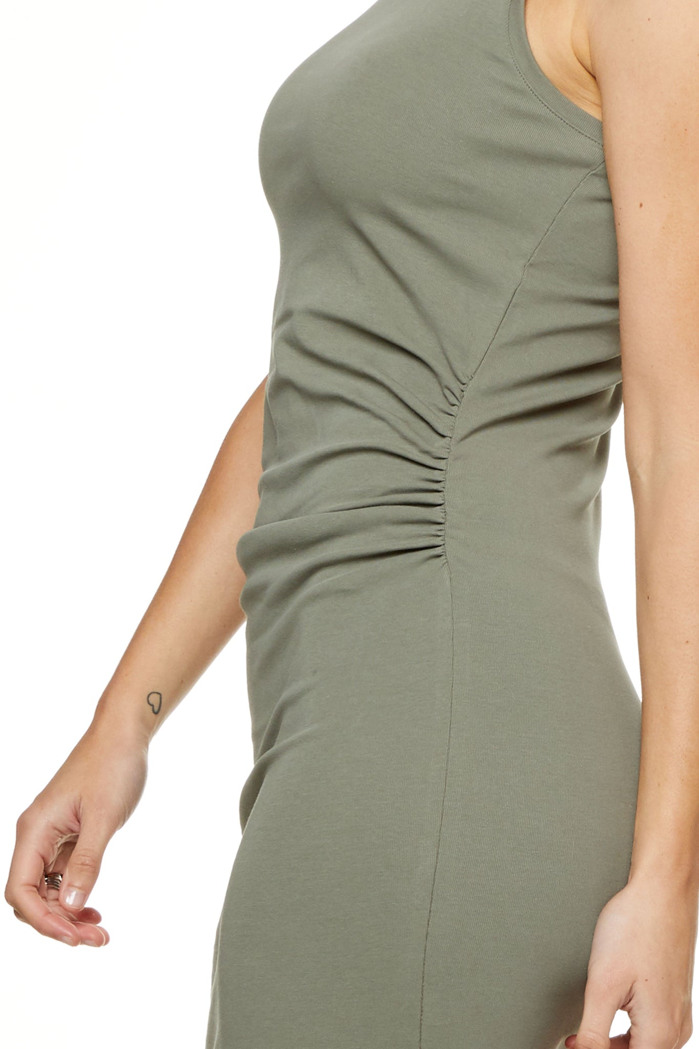 Bodycon Maternity Dress Khaki Image 5