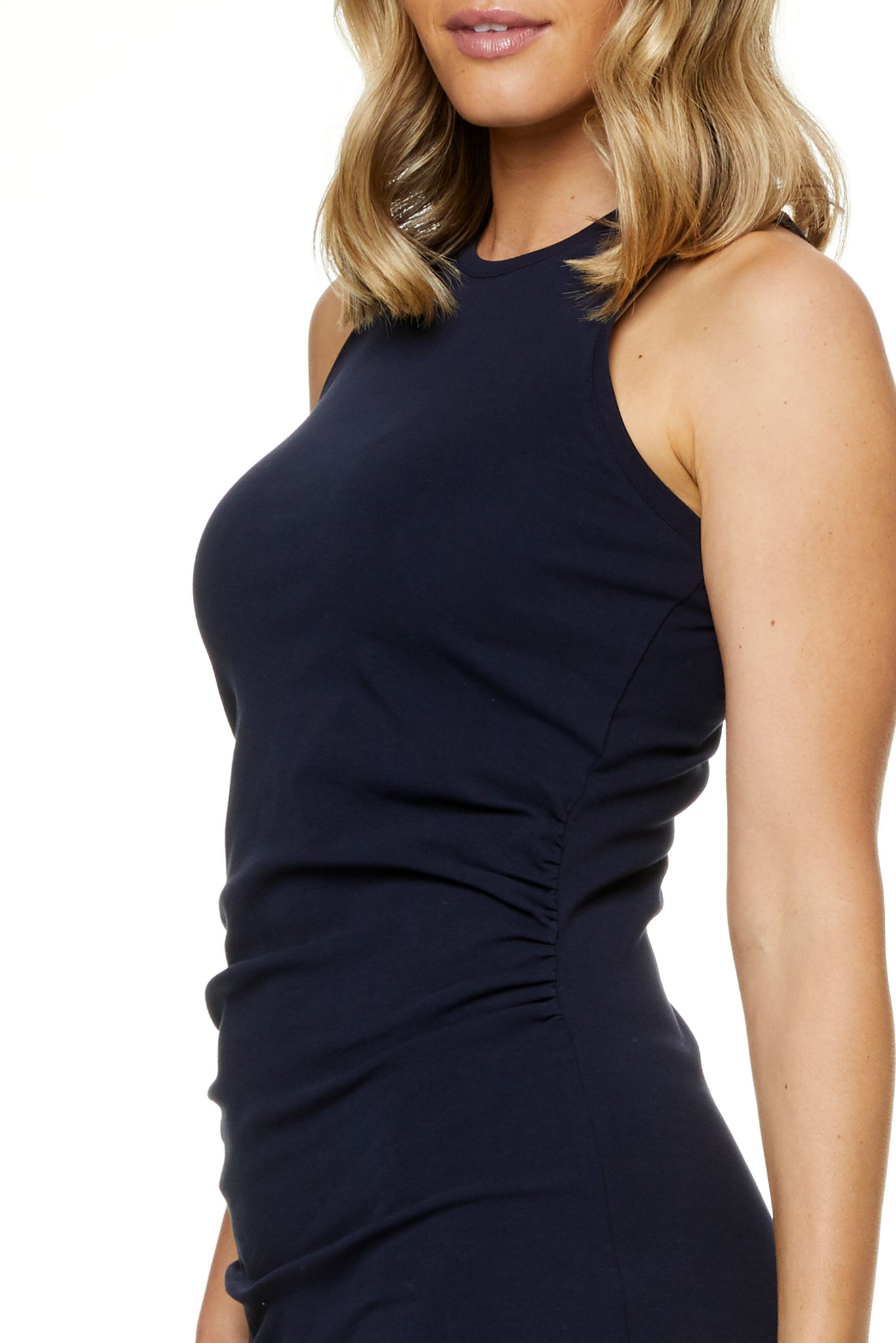 Bodycon Maternity Dress Navy Image 5