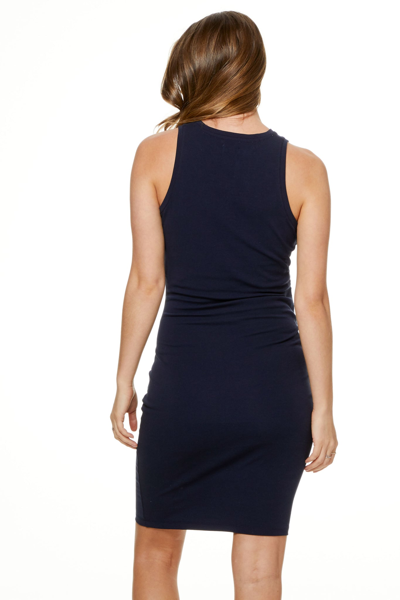 Bodycon Maternity Dress Navy image 10
