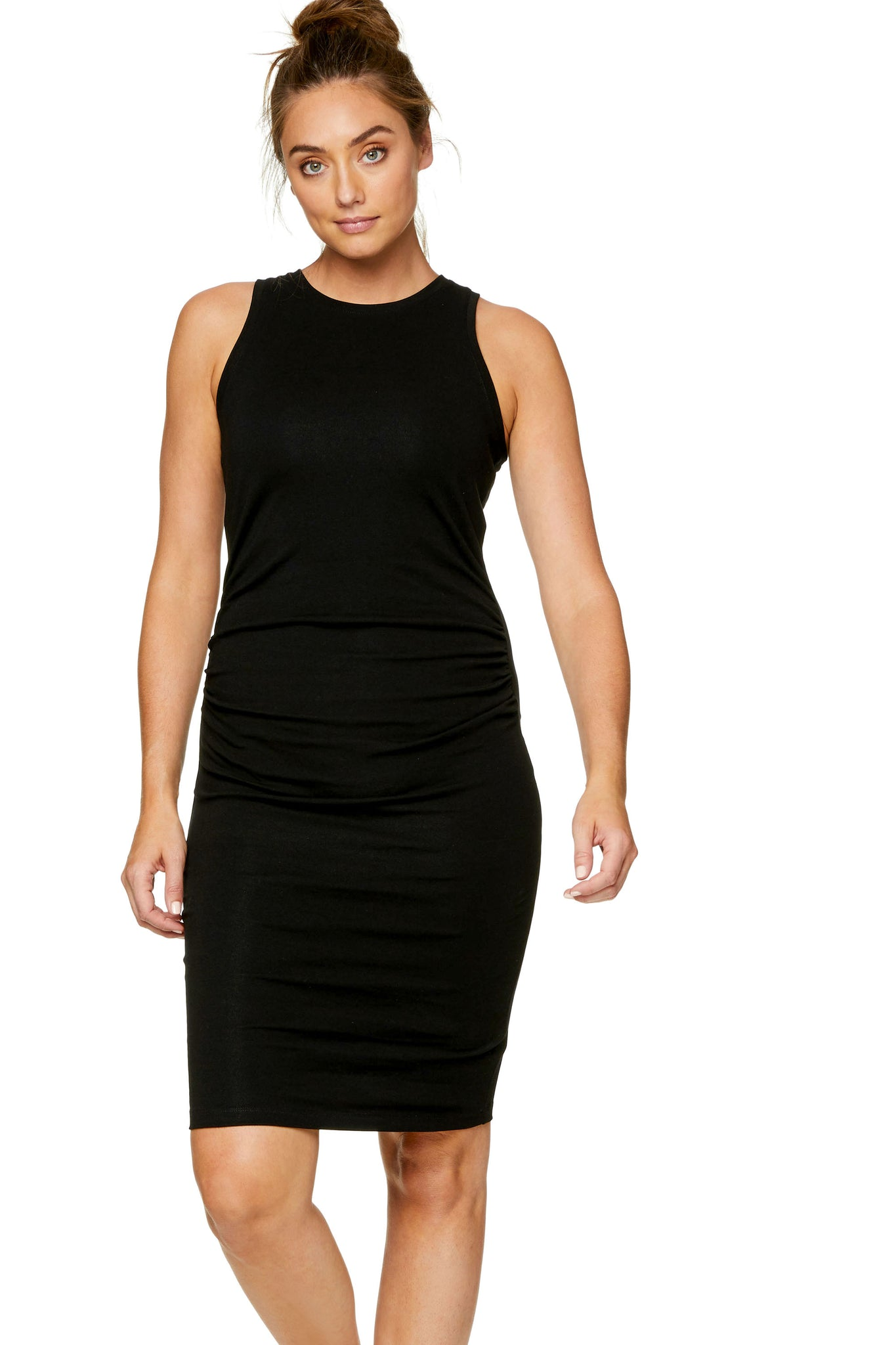 Bodycon maternity dress - black 5