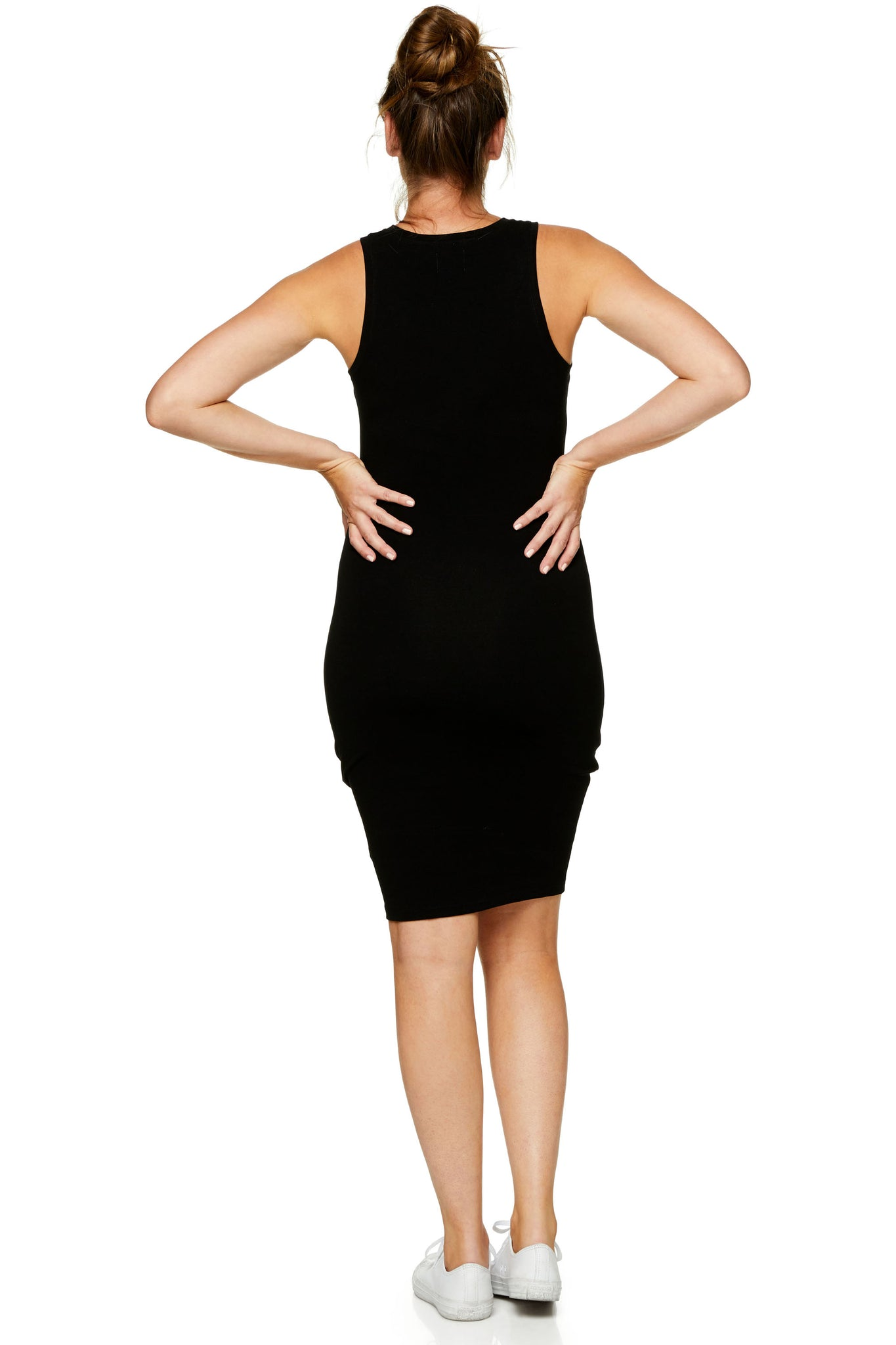 Bodycon maternity dress - black 7