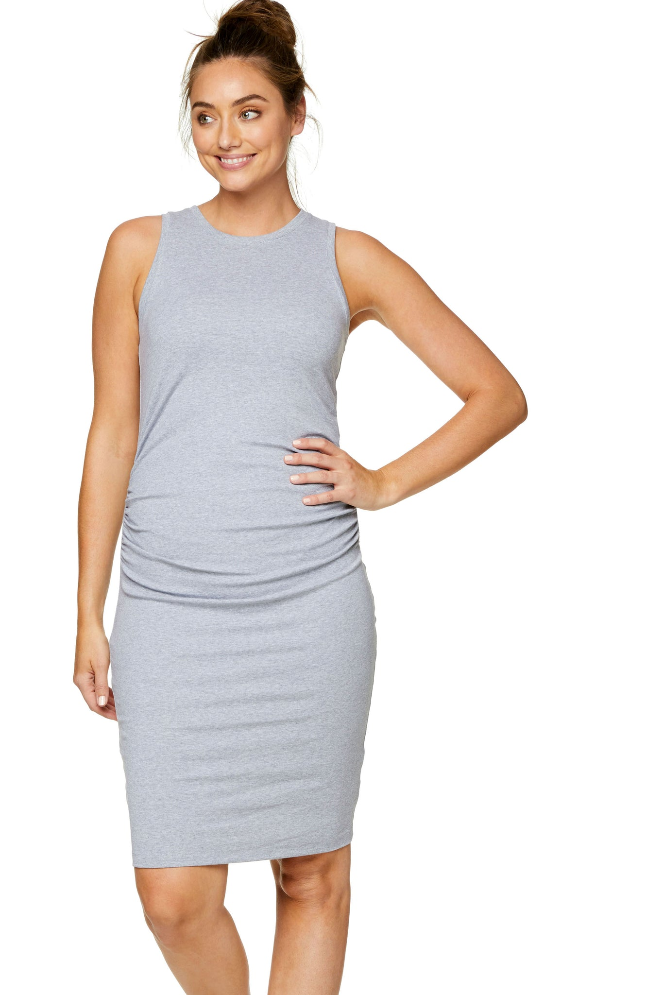 Bodycon maternity dress - grey 5