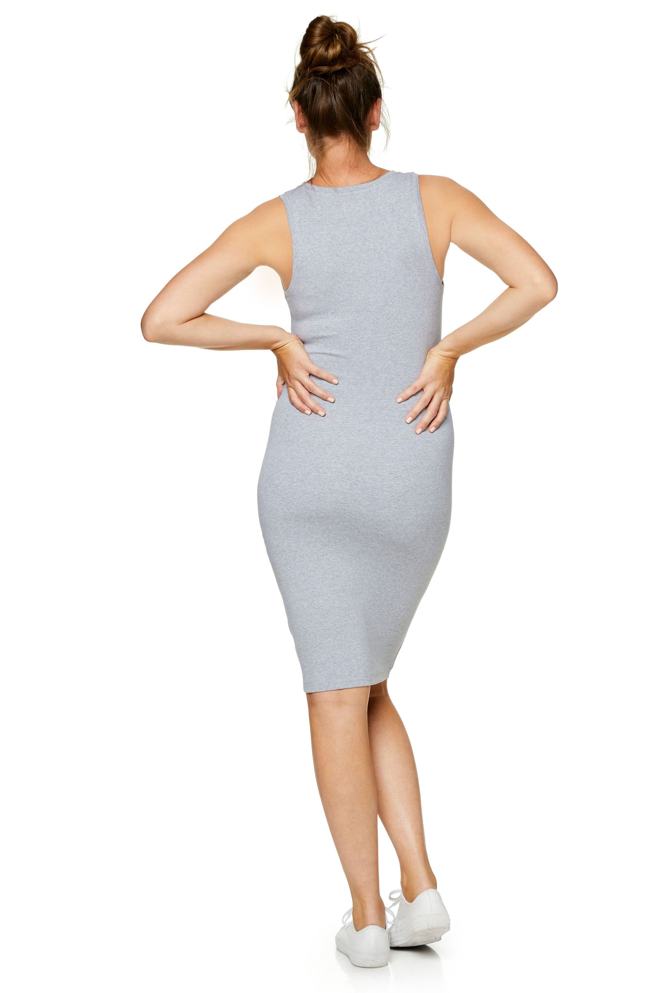 Bodycon maternity dress - grey 7