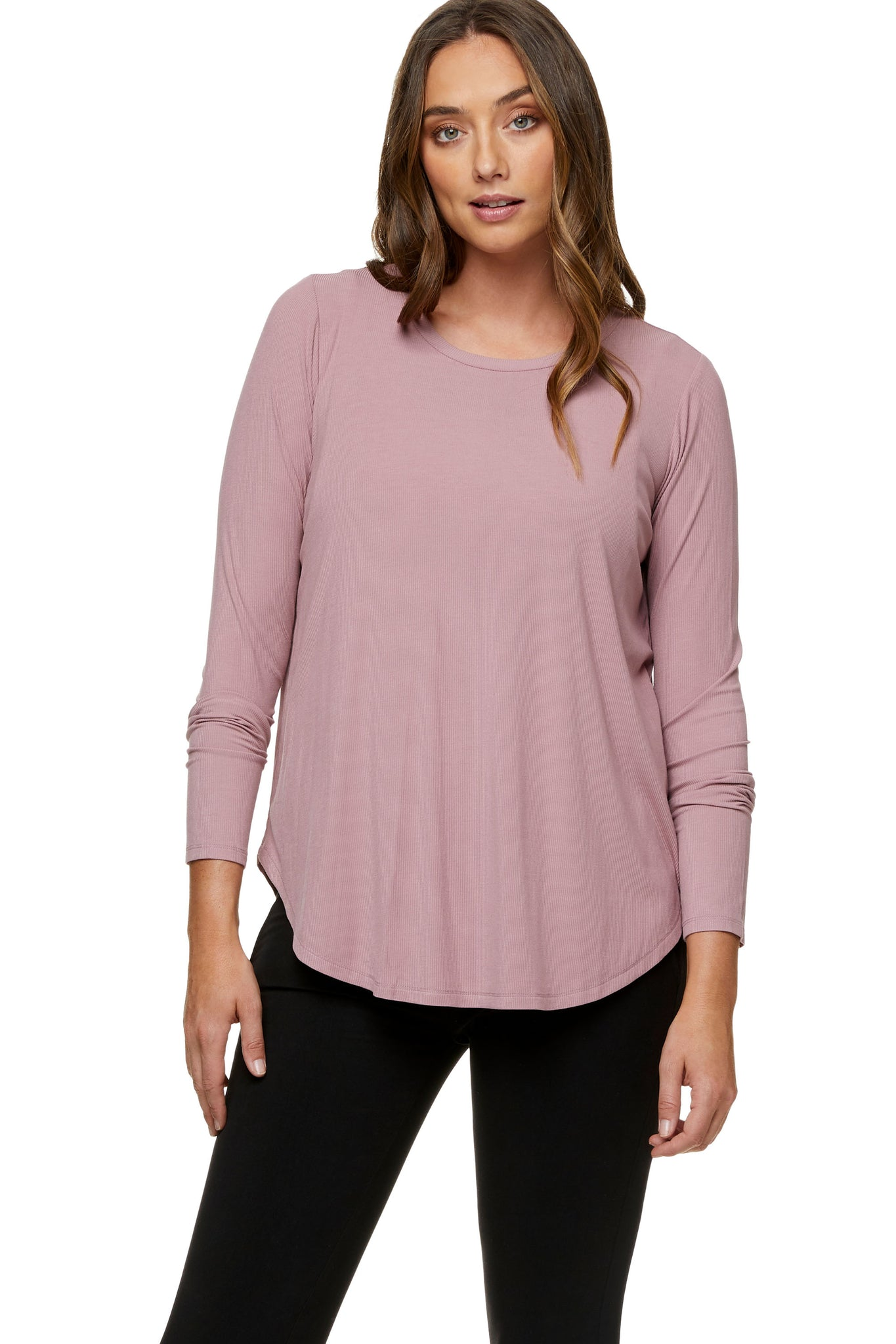 Pink long sleeve nursing top 5
